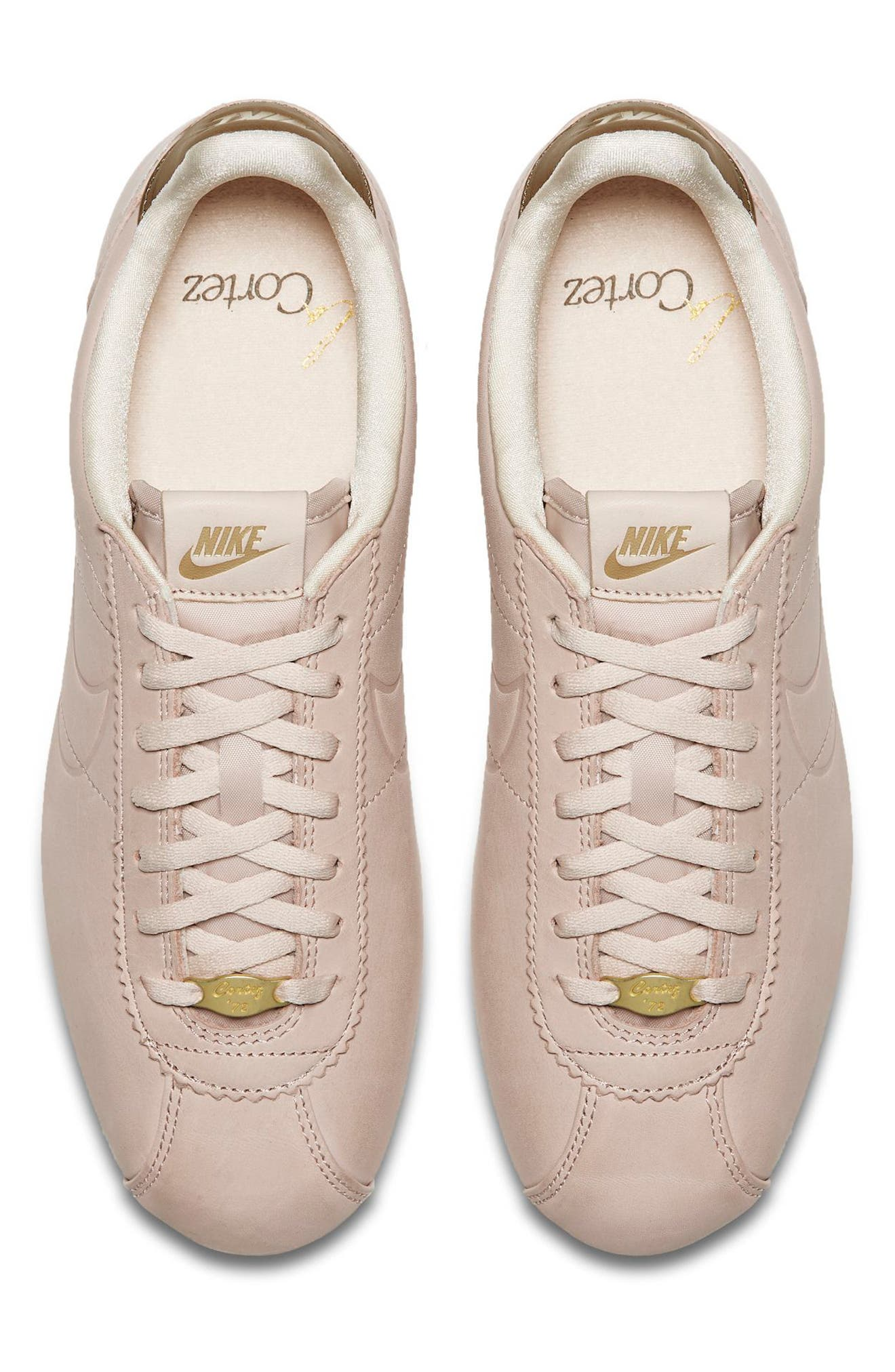 x Maria Sharapova LA Cortez Premium Sneaker,                             Alternate thumbnail 4, color,                             Particle Beige/Particle Beige