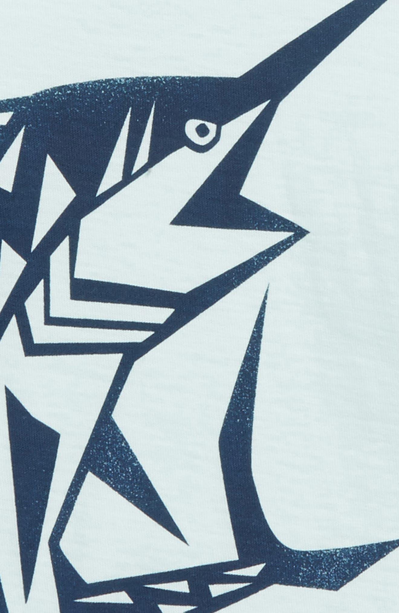 Swordfish T-Shirt,                             Alternate thumbnail 2, color,                             Key Blue