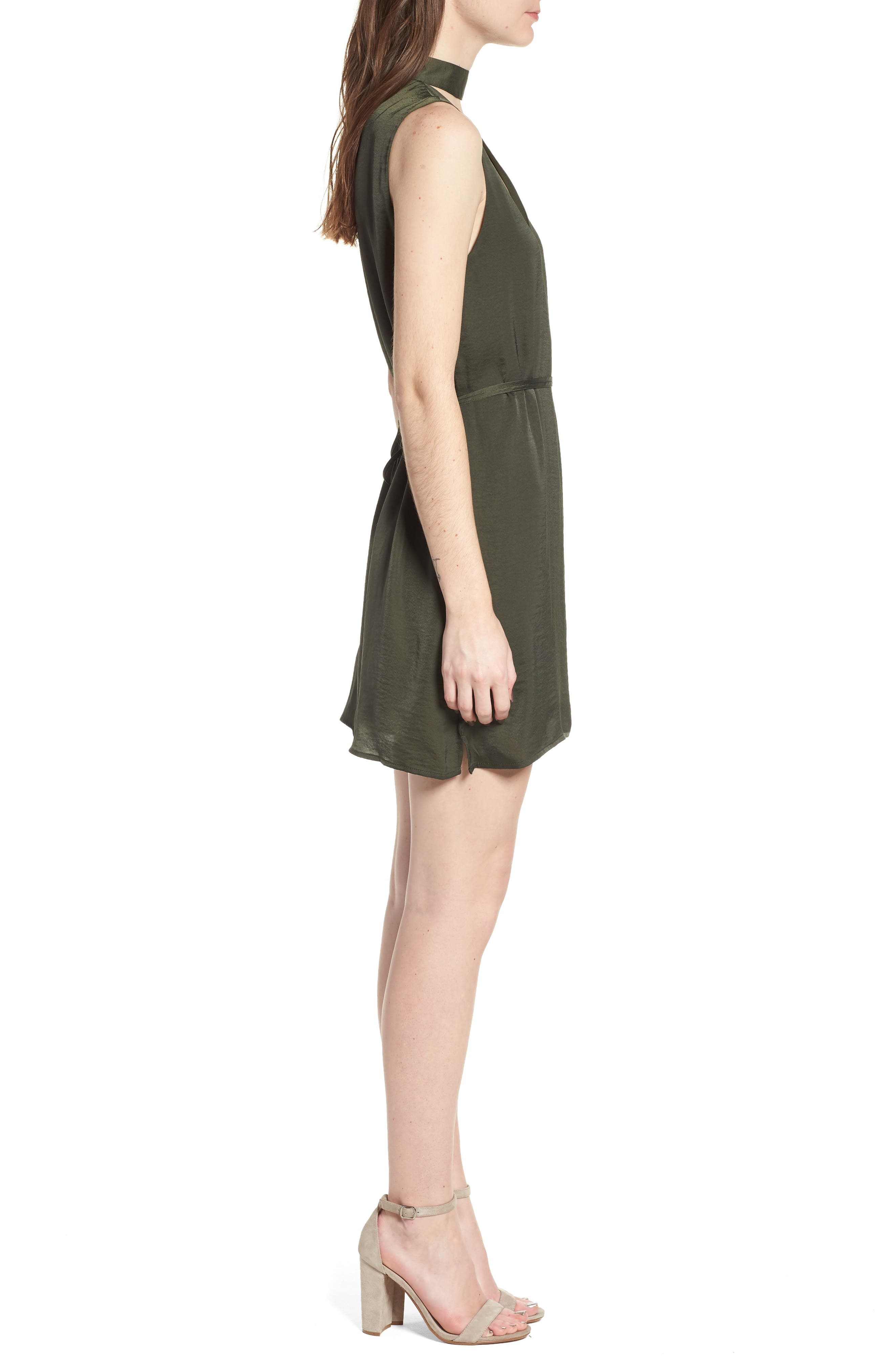 Hansel Sleeveless Dress,                             Alternate thumbnail 3, color,                             Army