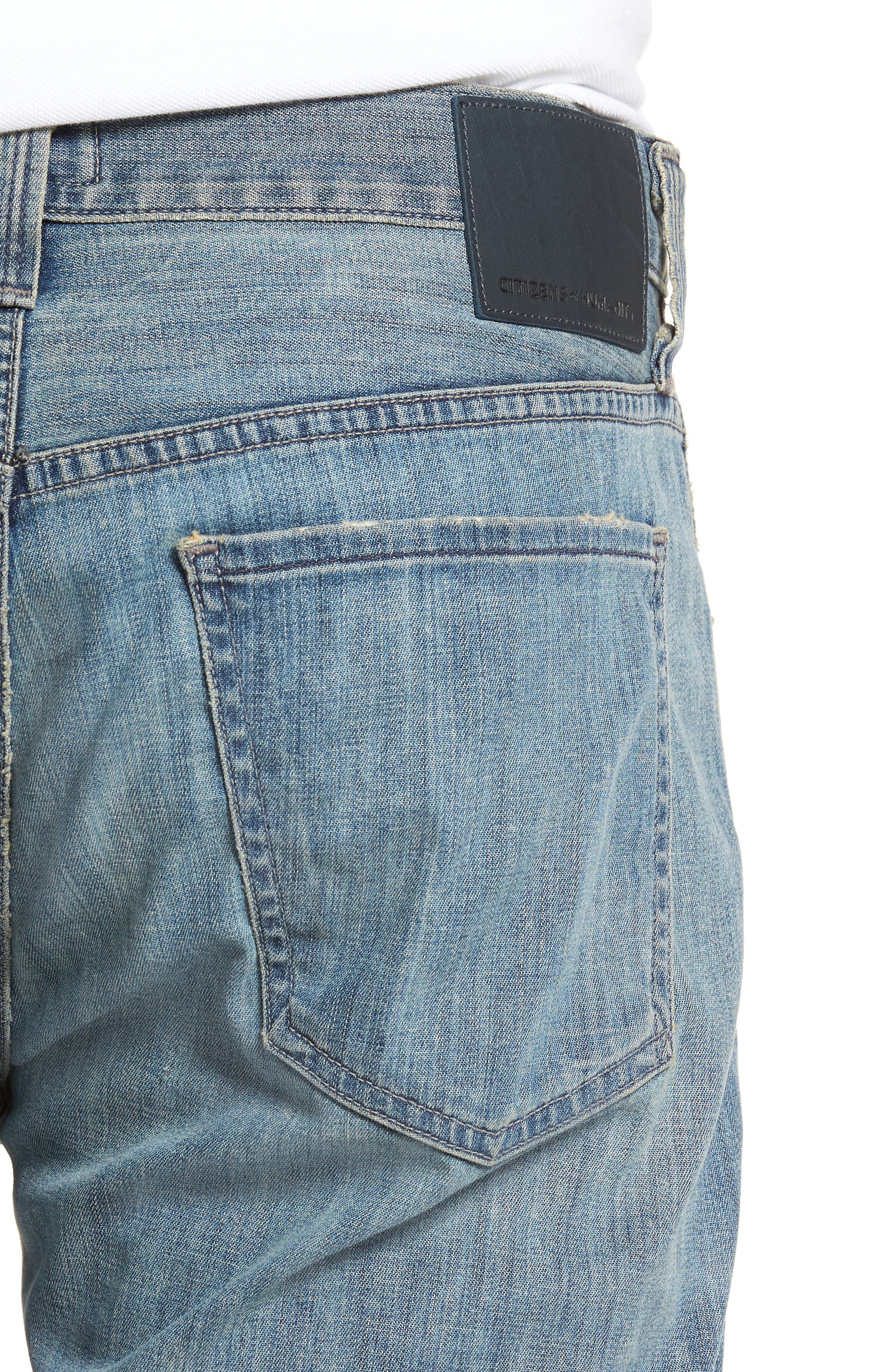 Perfect Relaxed Fit Jeans,                             Alternate thumbnail 4, color,                             Costa
