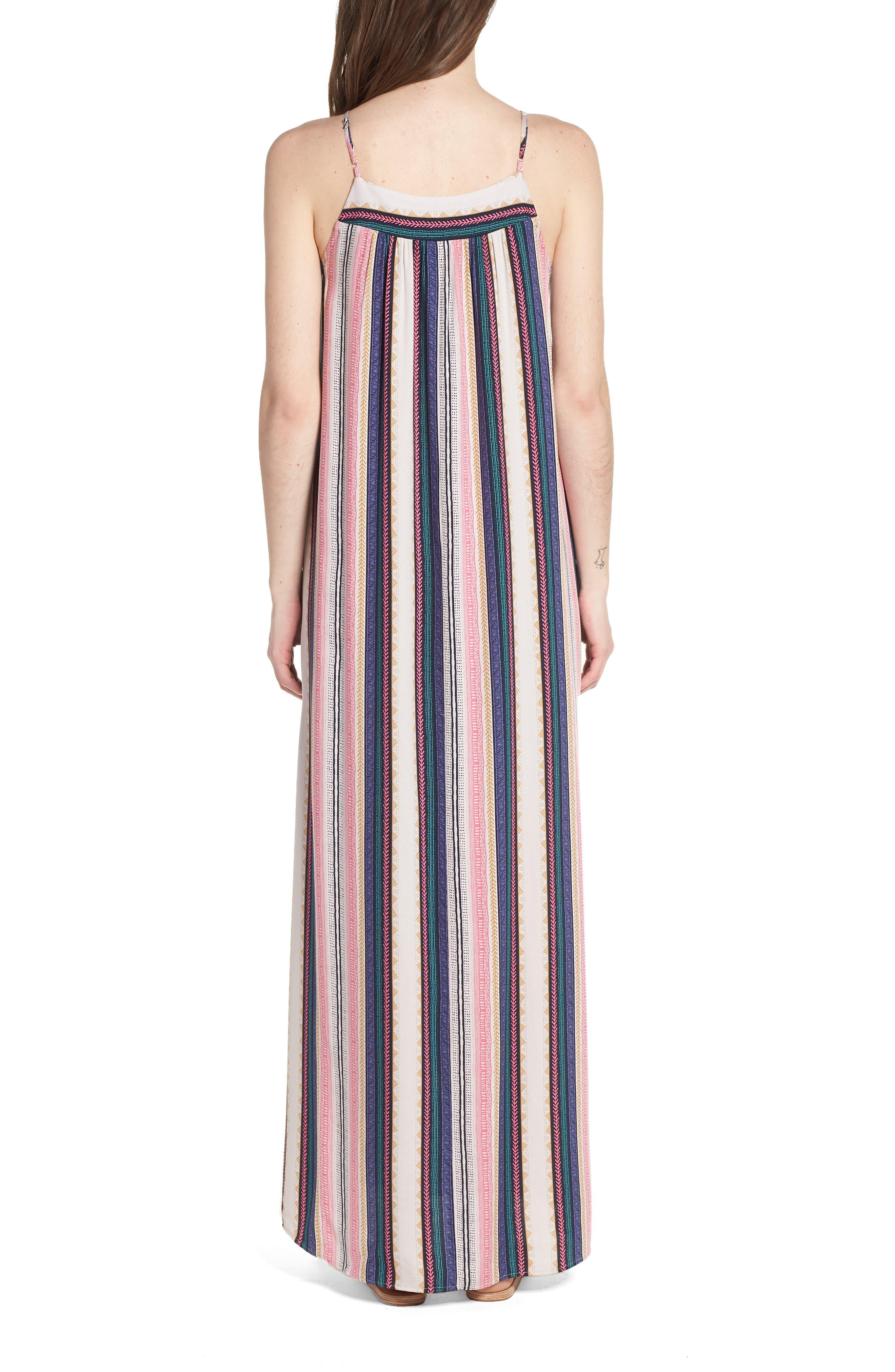 Stripe Maxi Dress,                             Alternate thumbnail 2, color,                             Multi Stripe