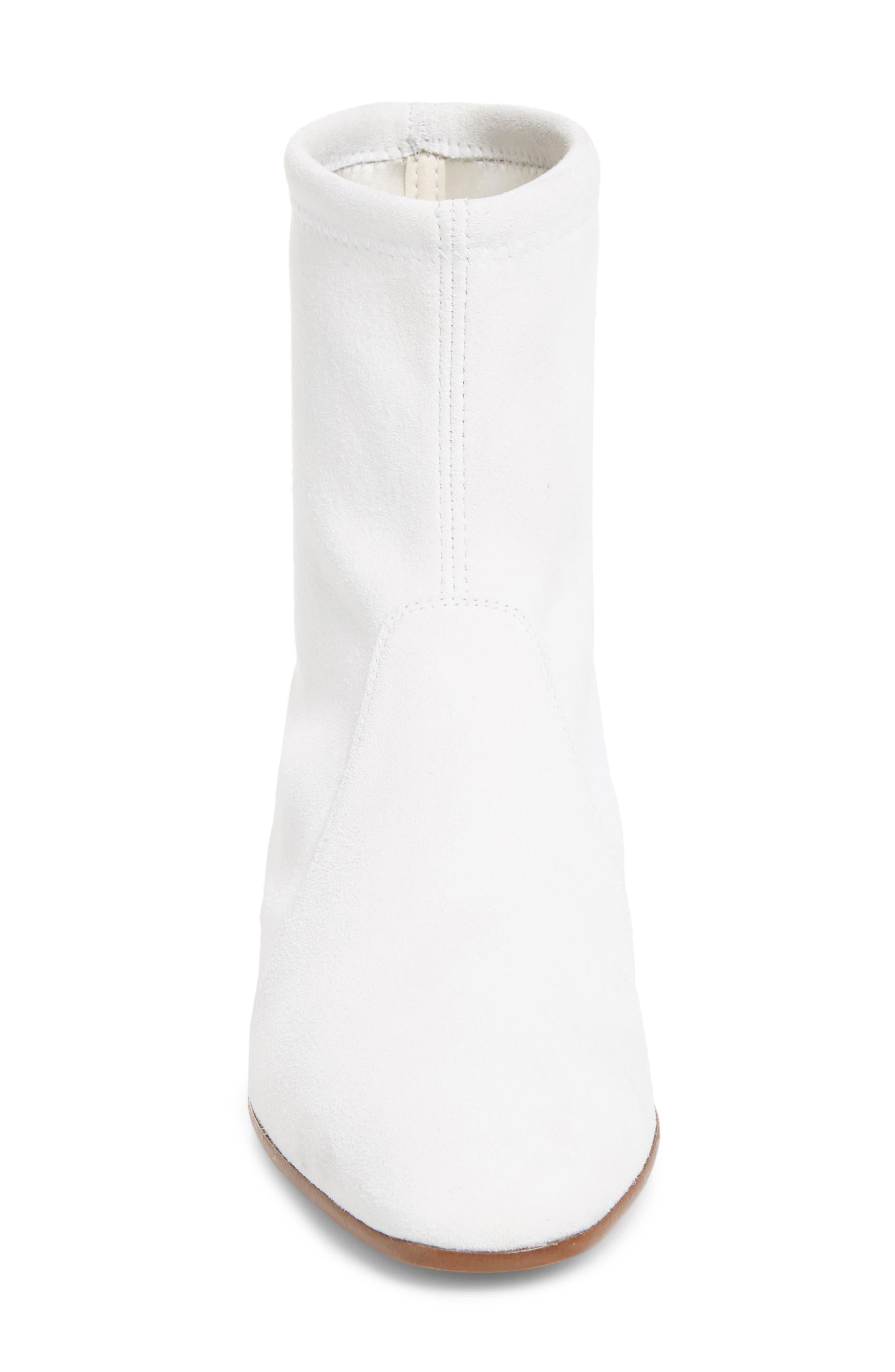 Accordion Bootie,                             Alternate thumbnail 4, color,                             Off White Seda Suede