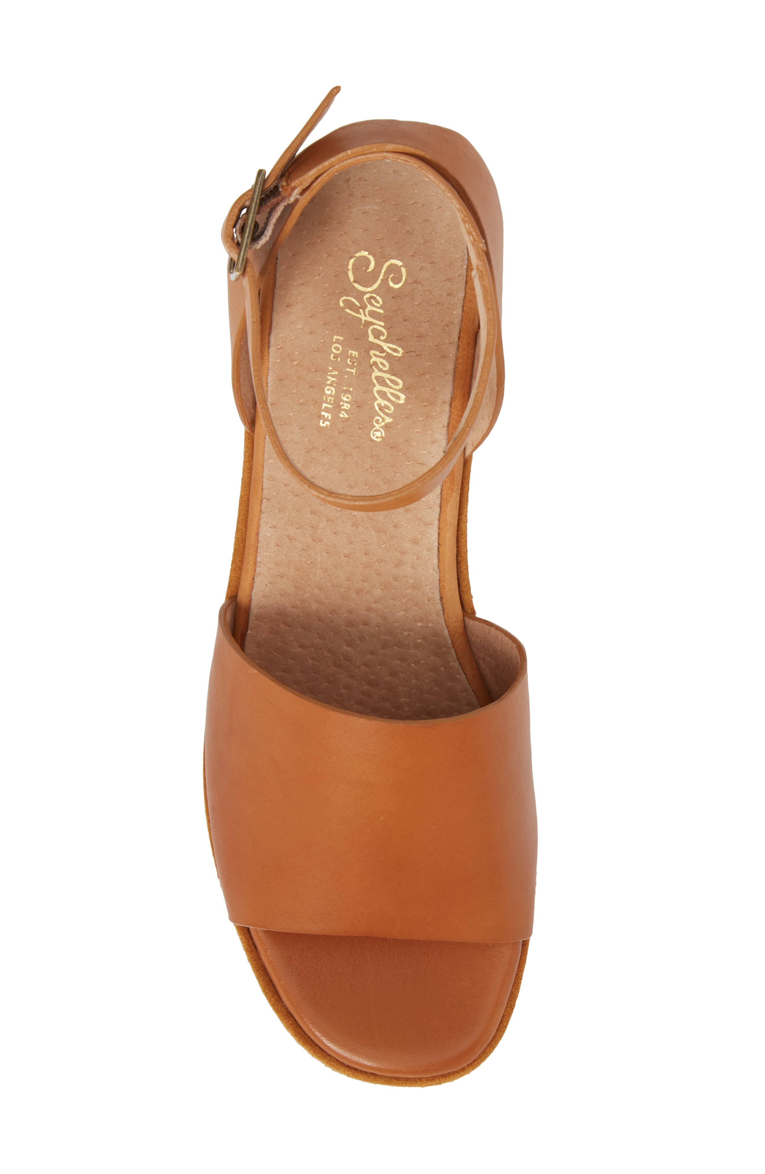 Calming Influence Platform Sandal,                             Alternate thumbnail 5, color,                             Tan Leather