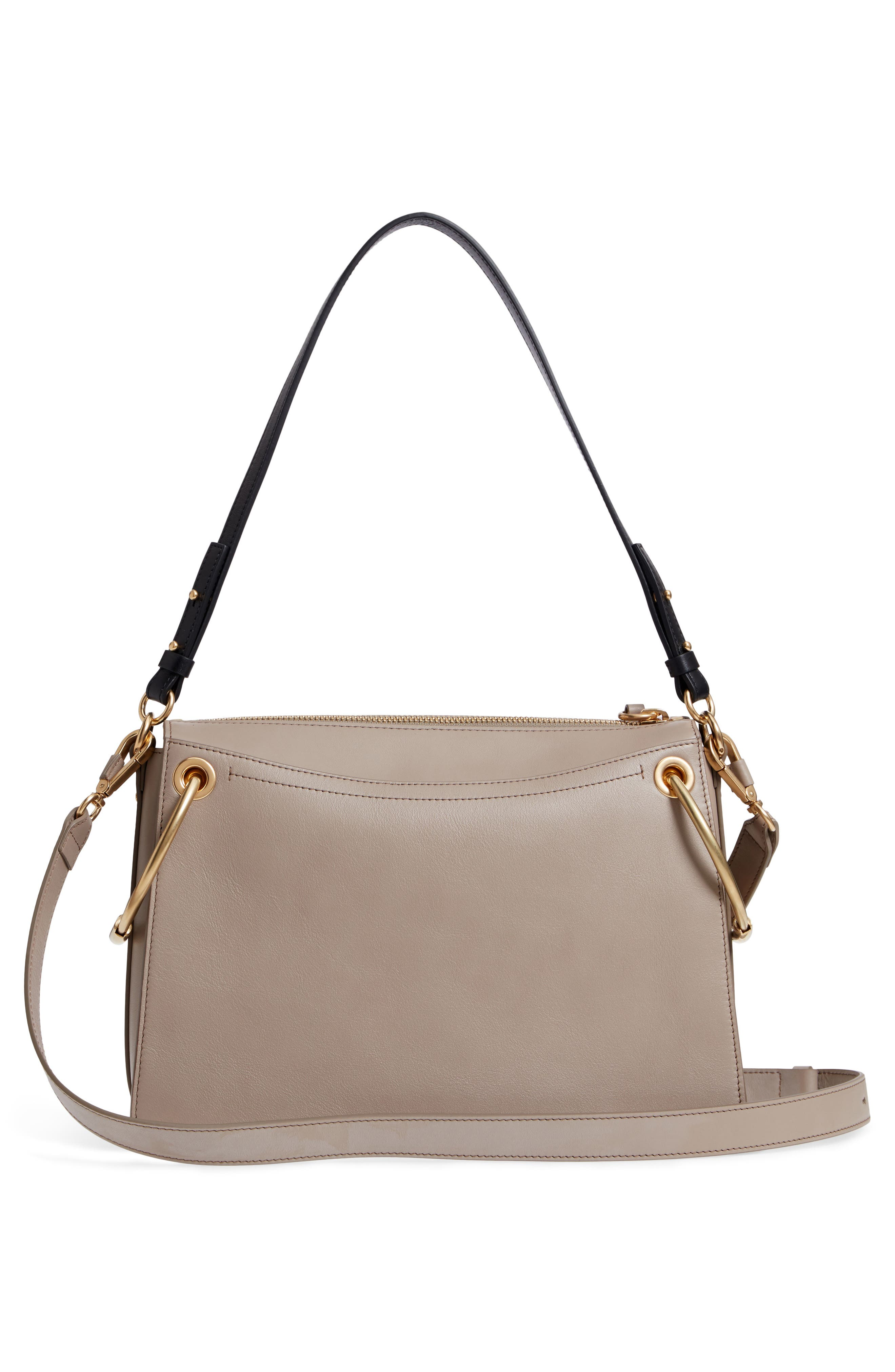 Small Roy Leather Shoulder Bag,                             Alternate thumbnail 3, color,                             Motty Grey