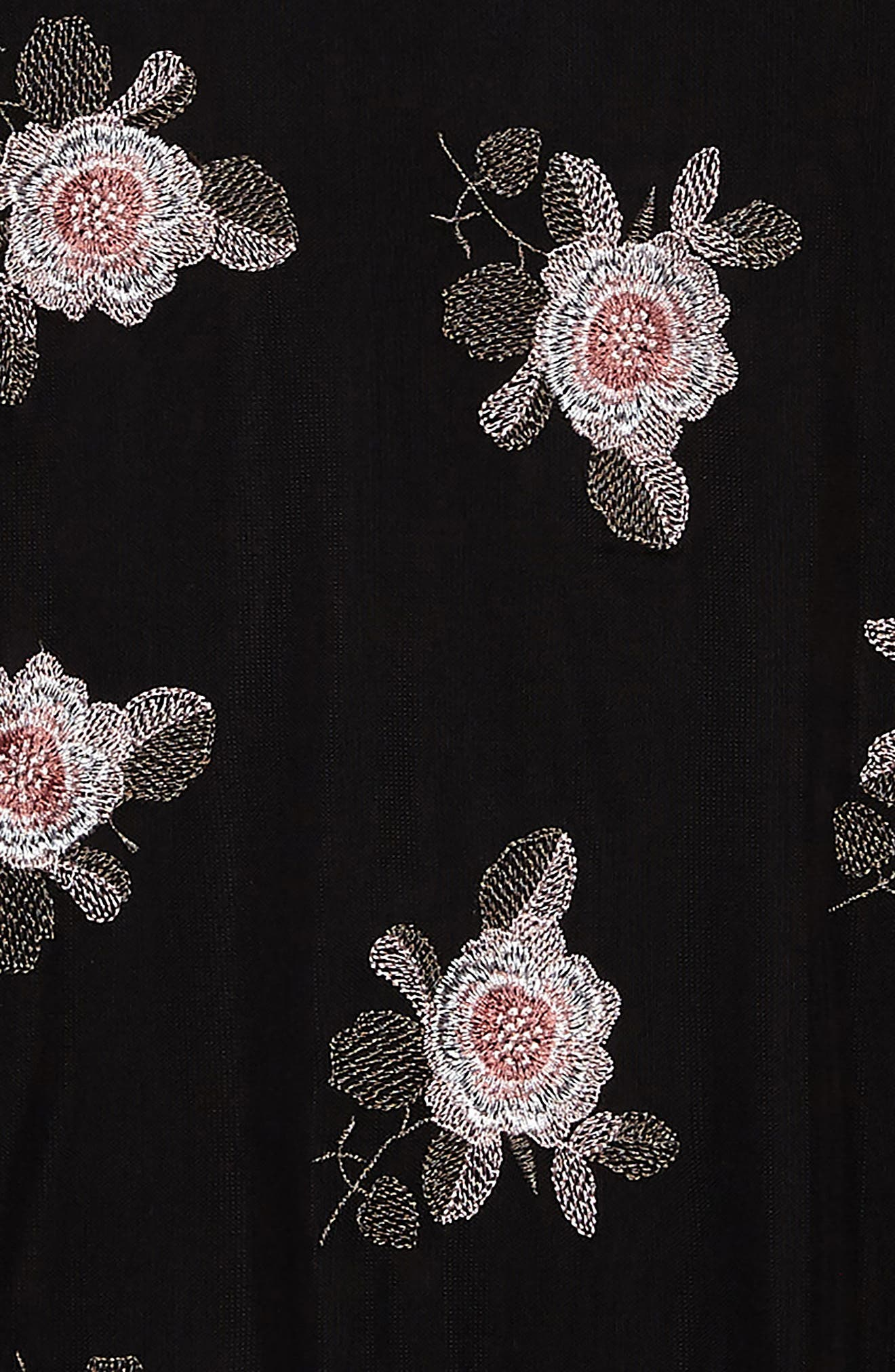 Alternate Image 3  - Zoe and Rose Flower Embroidered Mesh Dress (Big Girls)