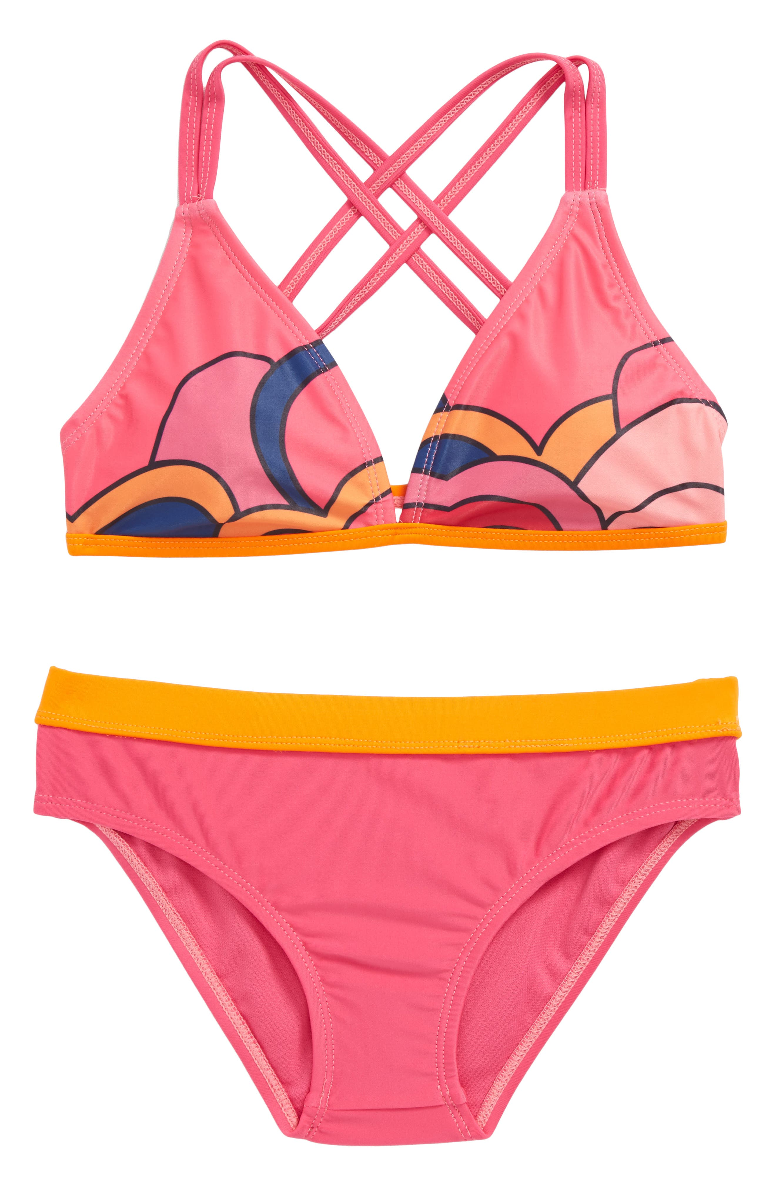 Adelia Two-Piece Swimsuit,                         Main,                         color, Multi