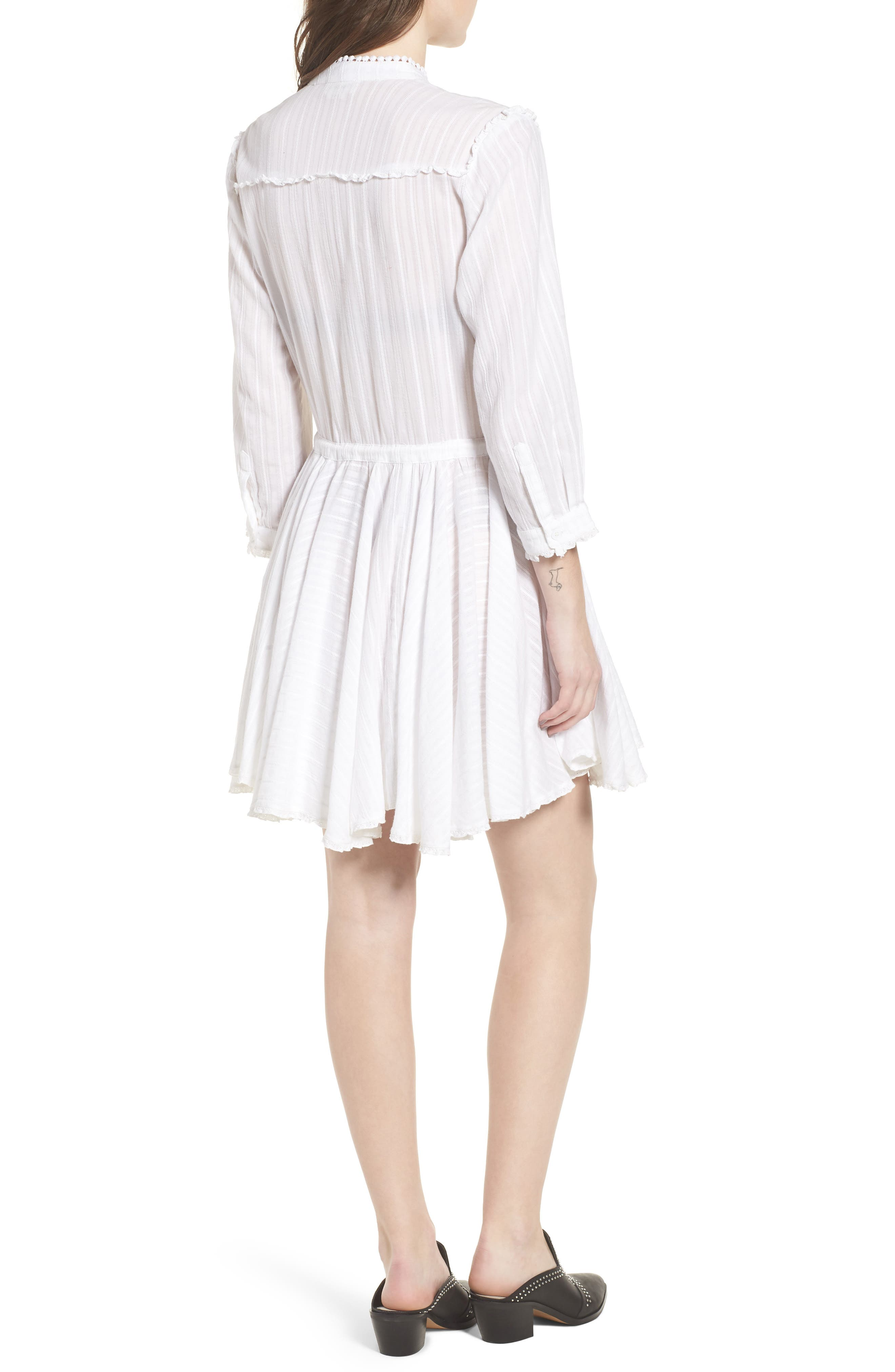 Ranil Textured Fit & Flare Dress,                             Alternate thumbnail 2, color,                             White