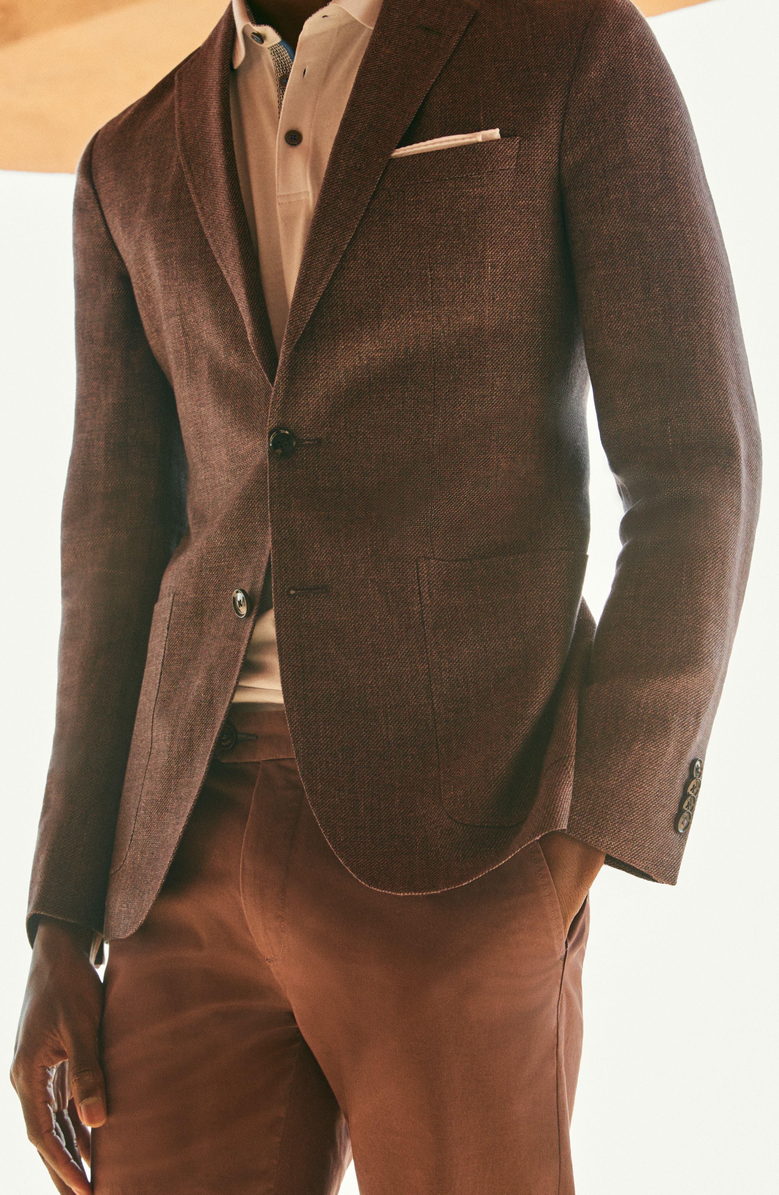 Kyle Trim Fit Linen & Wool Blazer,                             Alternate thumbnail 10, color,
