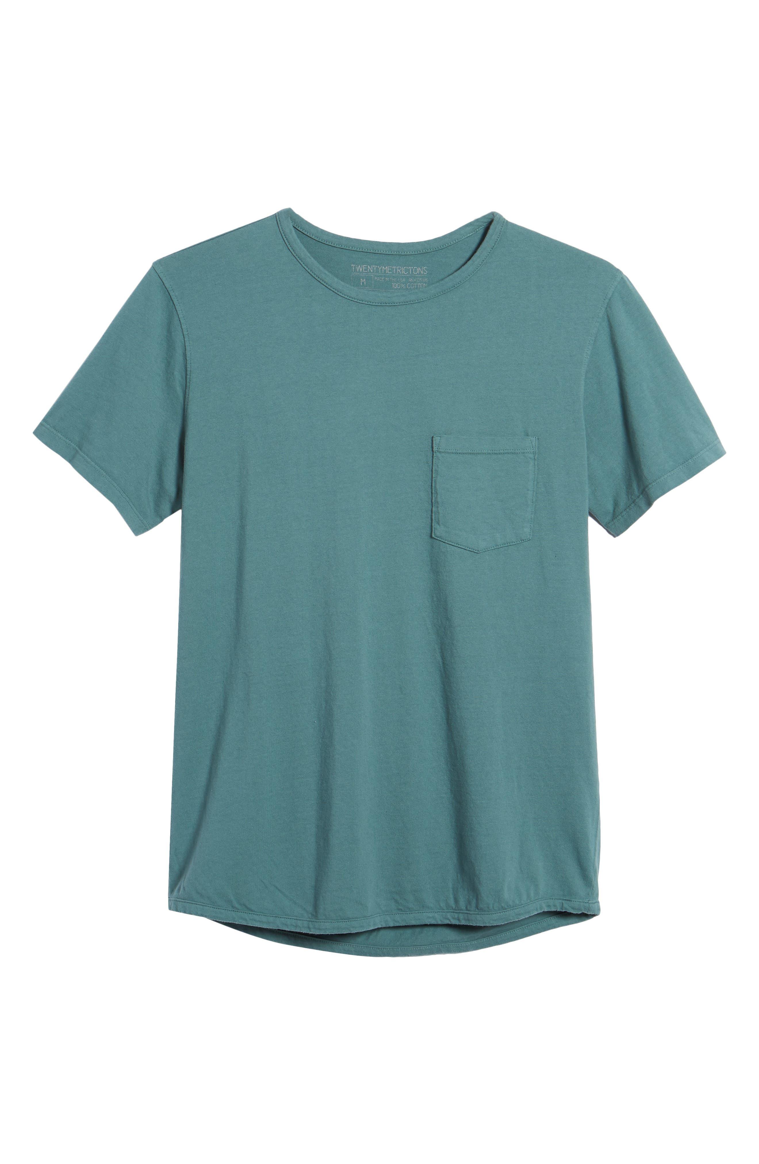 Pocket T-Shirt,                             Alternate thumbnail 6, color,                             Aqua