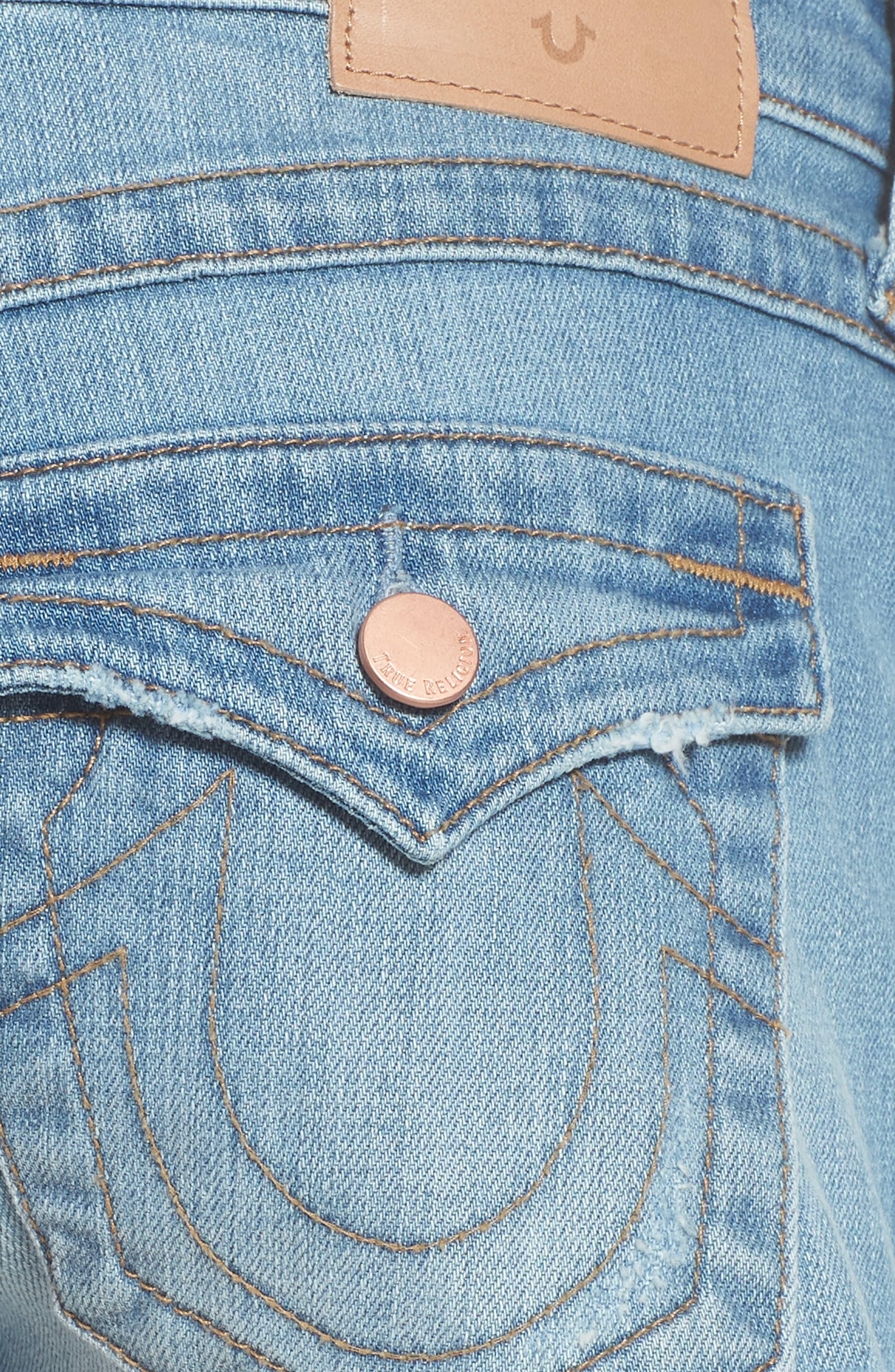 Joey Flap Pocket Cutoff Denim Shorts,                             Alternate thumbnail 6, color,                             Eshl Third Quarter
