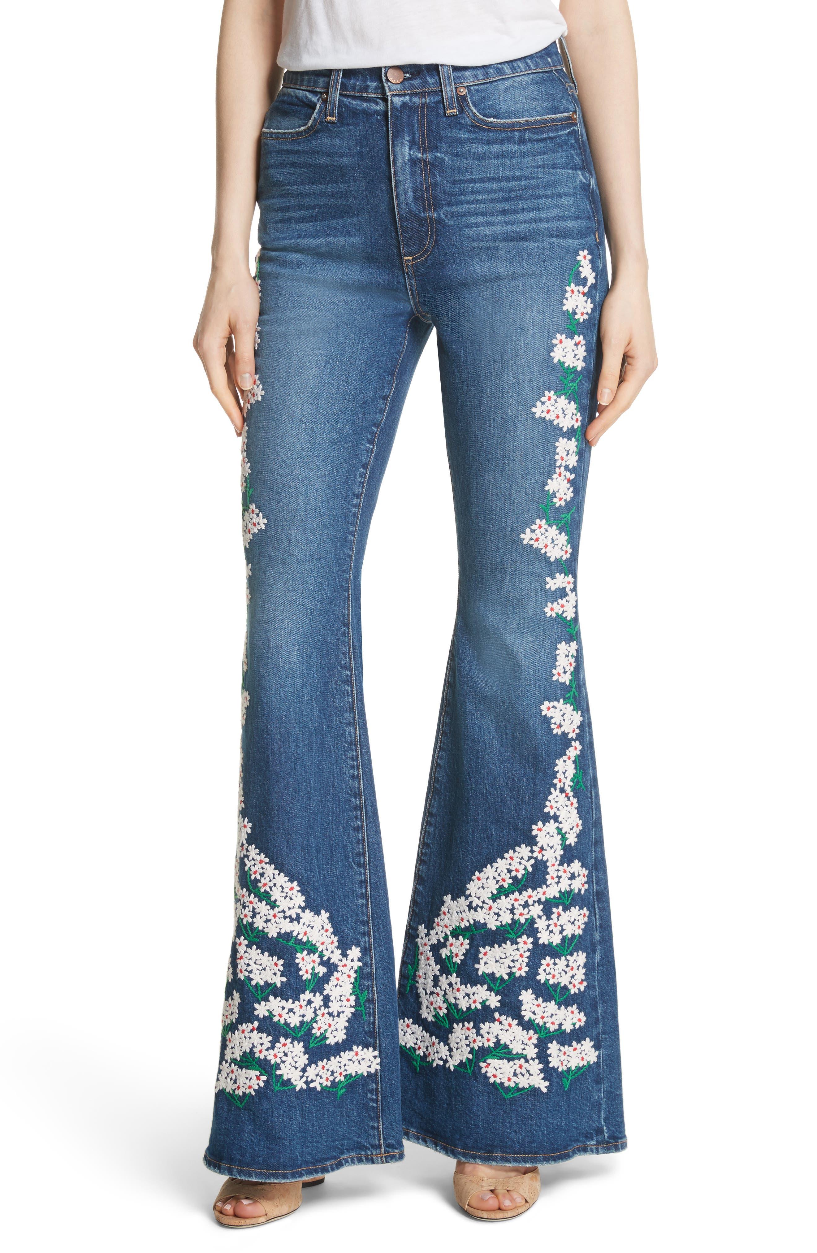 AO.LA Beautiful High Waist Bell Jeans,                         Main,                         color, Secret Meeting