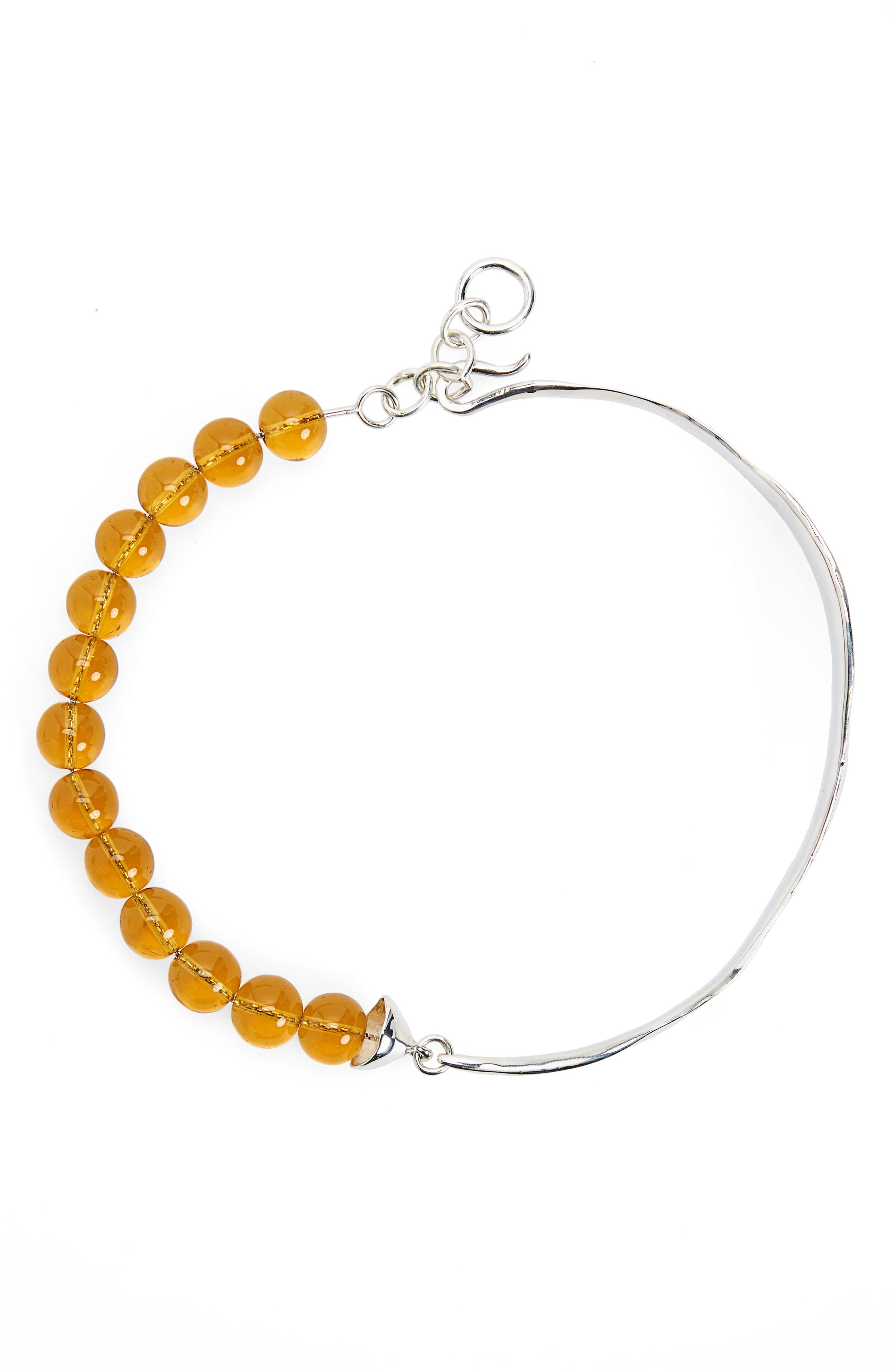 Versus Verre Collar Necklace,                         Main,                         color, Sterling Silver/ Yellow Glass