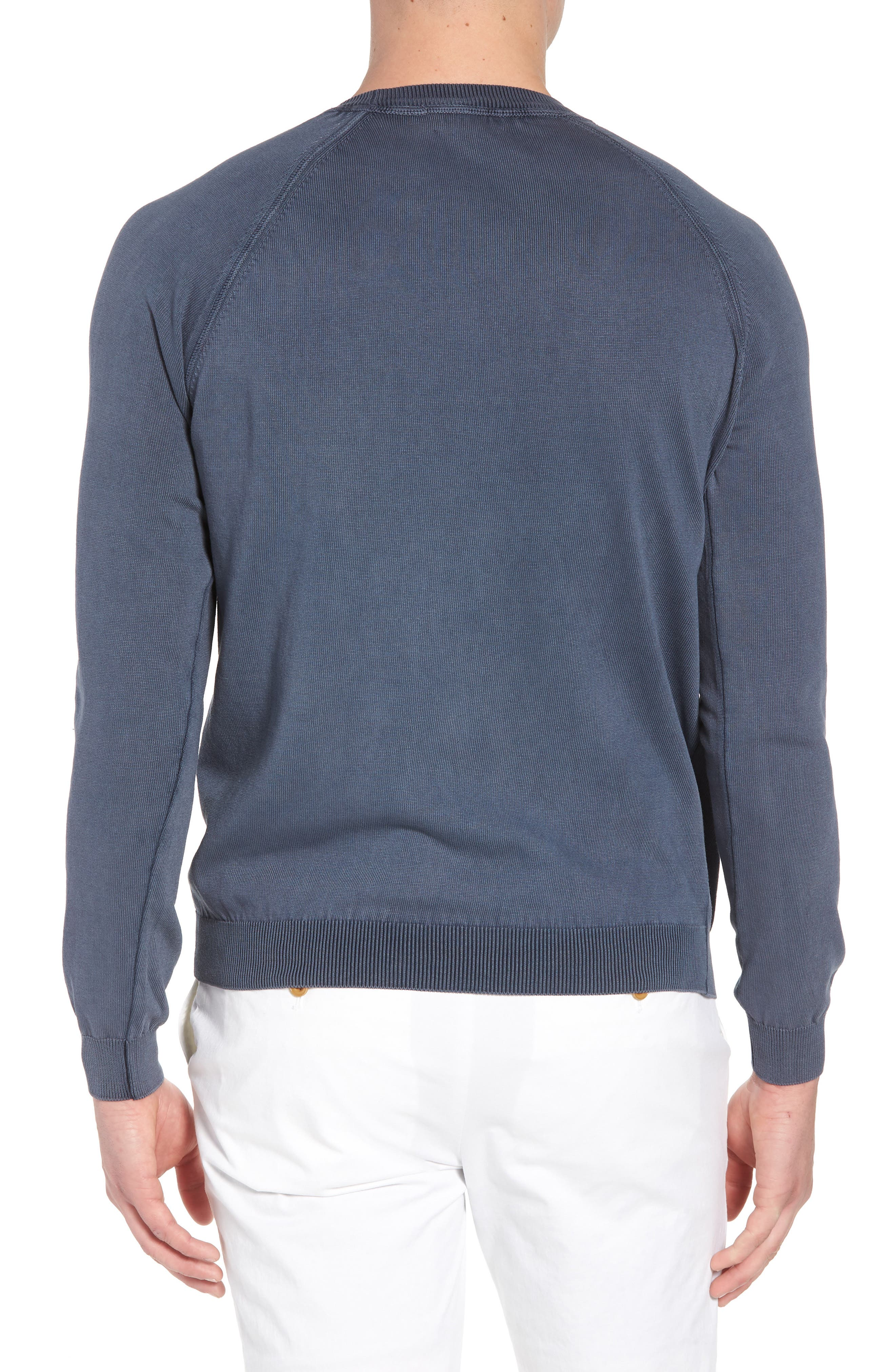 Alternate Image 2  - David Donahue Stonewash Cotton Sweatshirt