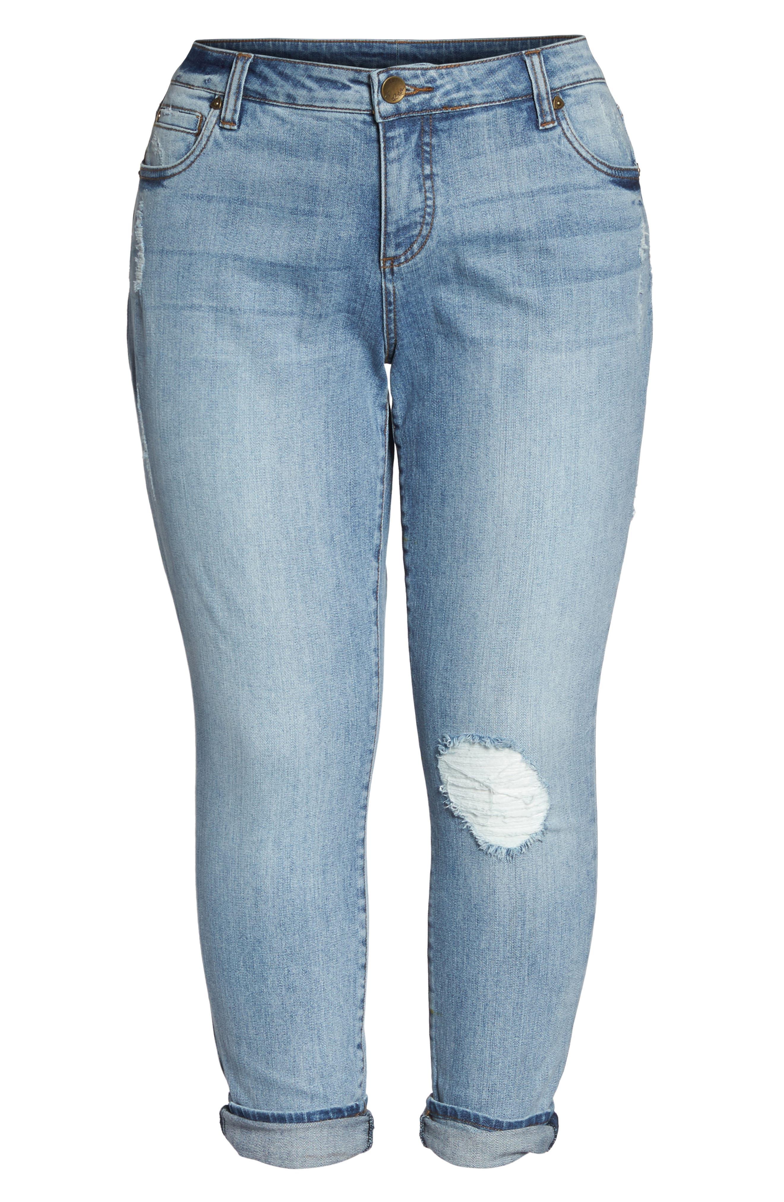 Catherine Distressed Boyfriend Jeans,                             Alternate thumbnail 6, color,                             Announce