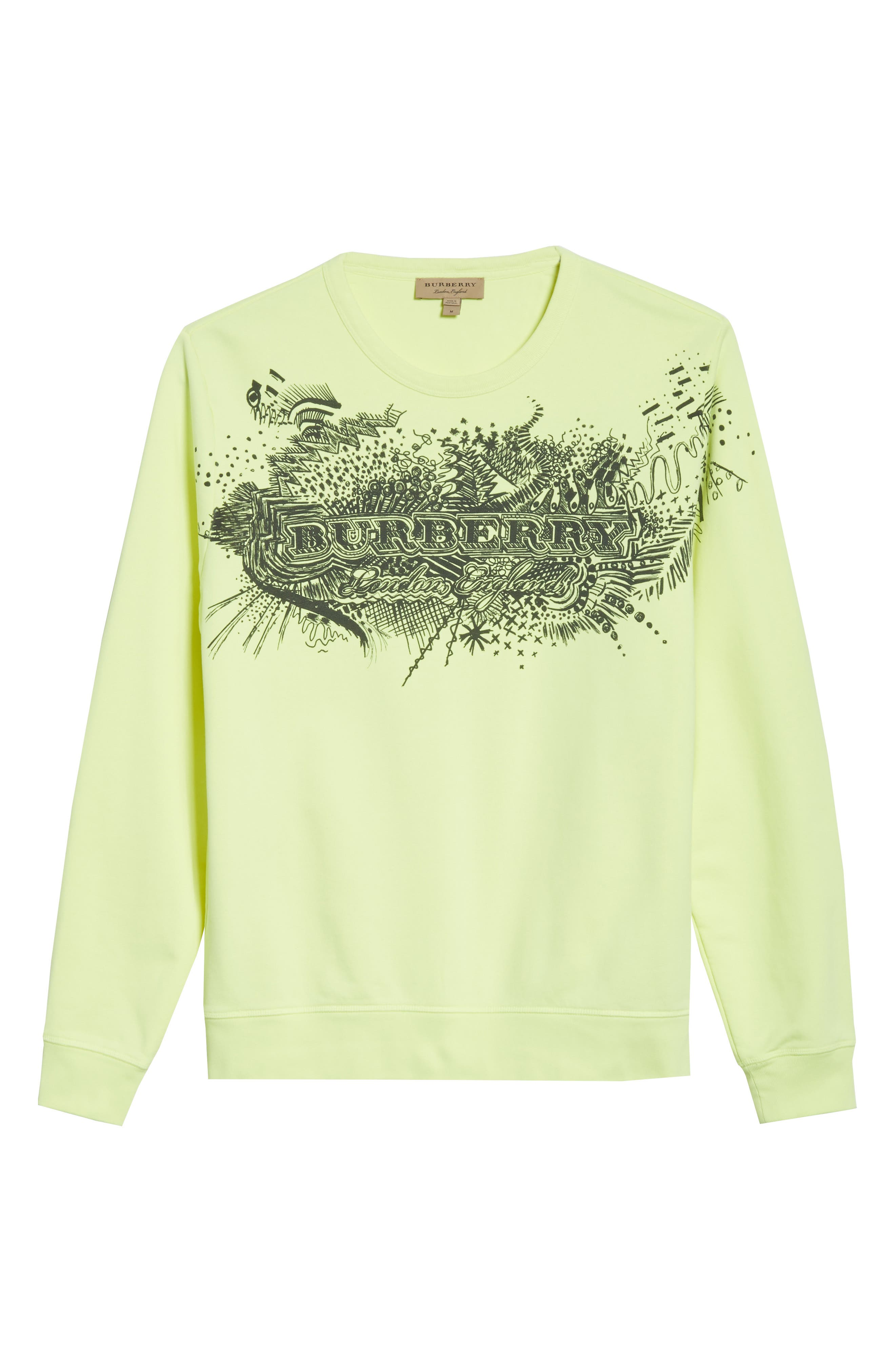 Sauer Graphic Crewneck Sweatshirt,                             Alternate thumbnail 6, color,                             Bright Lemon