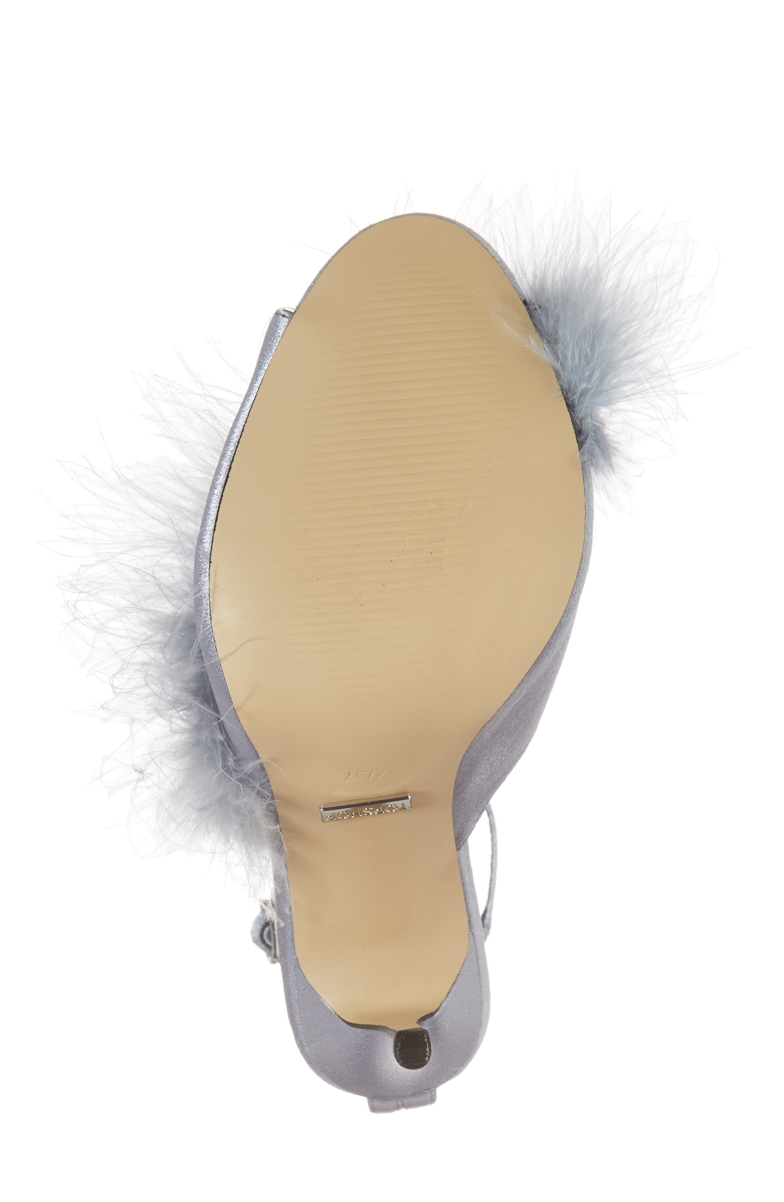 Roar Feather Sandal,                             Alternate thumbnail 6, color,                             Grey
