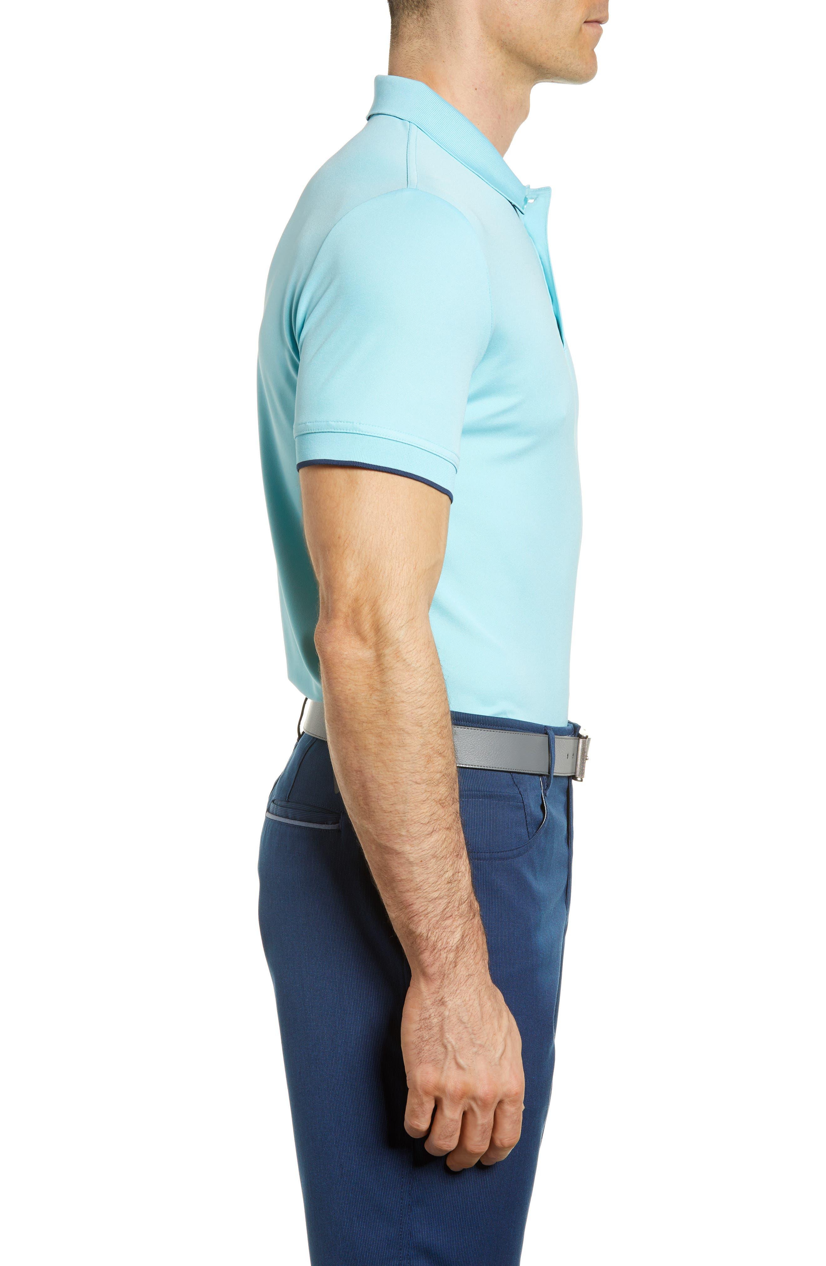 Slim Fit Stretch Polo Shirt,                             Alternate thumbnail 3, color,                             Petit Four