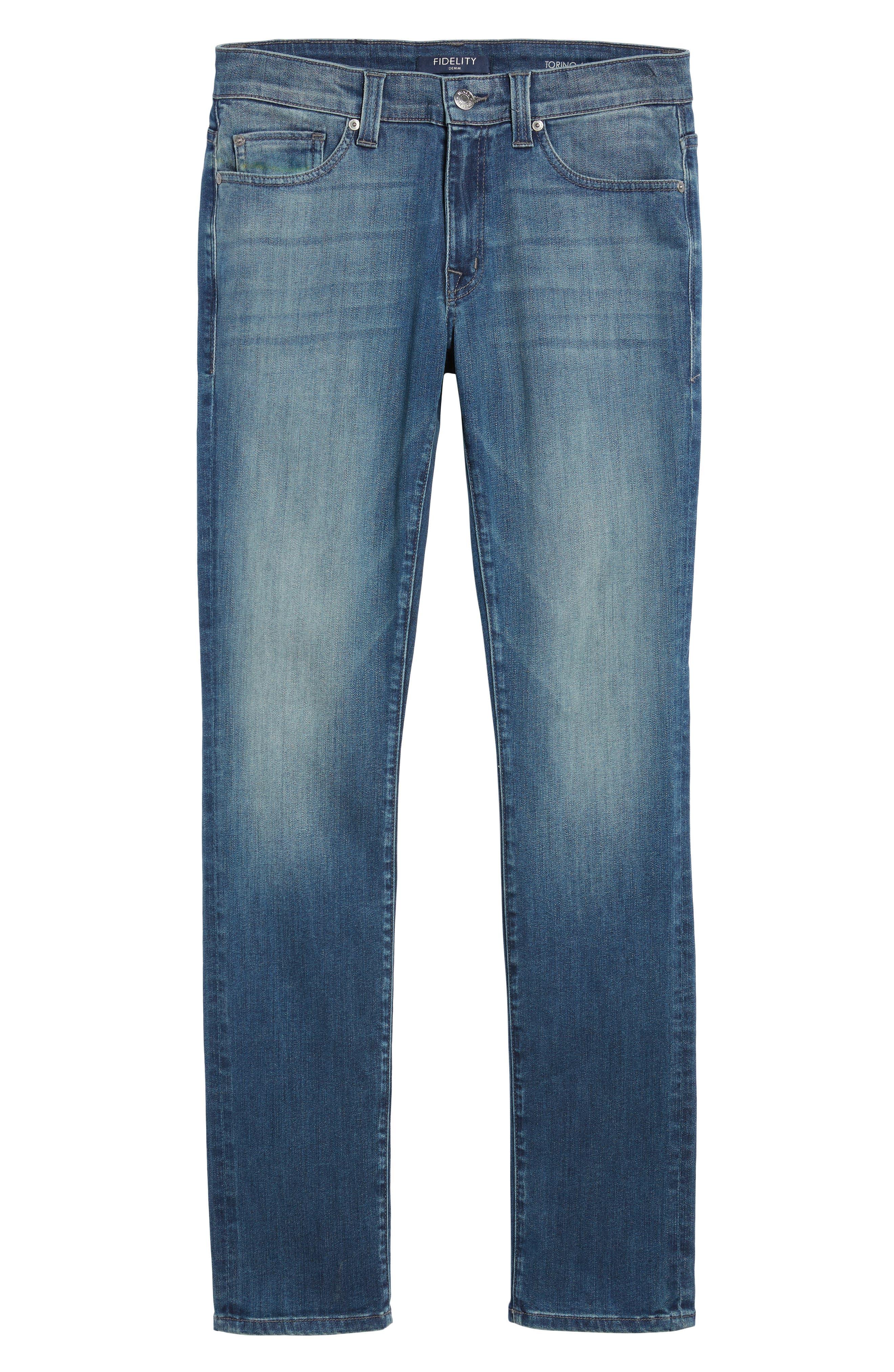 Torino Slim Fit Jeans,                             Alternate thumbnail 6, color,                             Atlas Blue