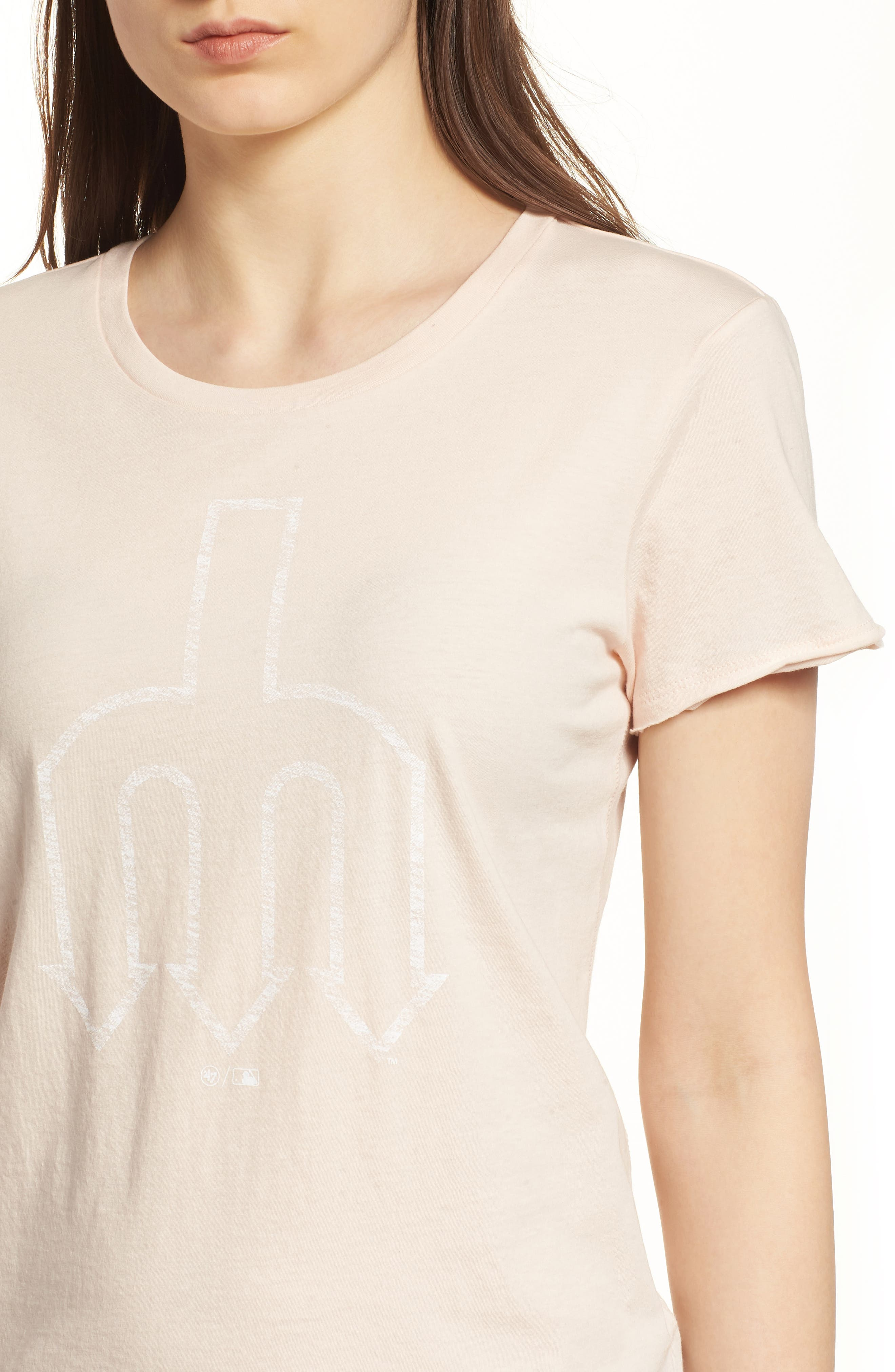 Seattle Mariners Fader Letter Tee,                             Alternate thumbnail 4, color,                             Blush