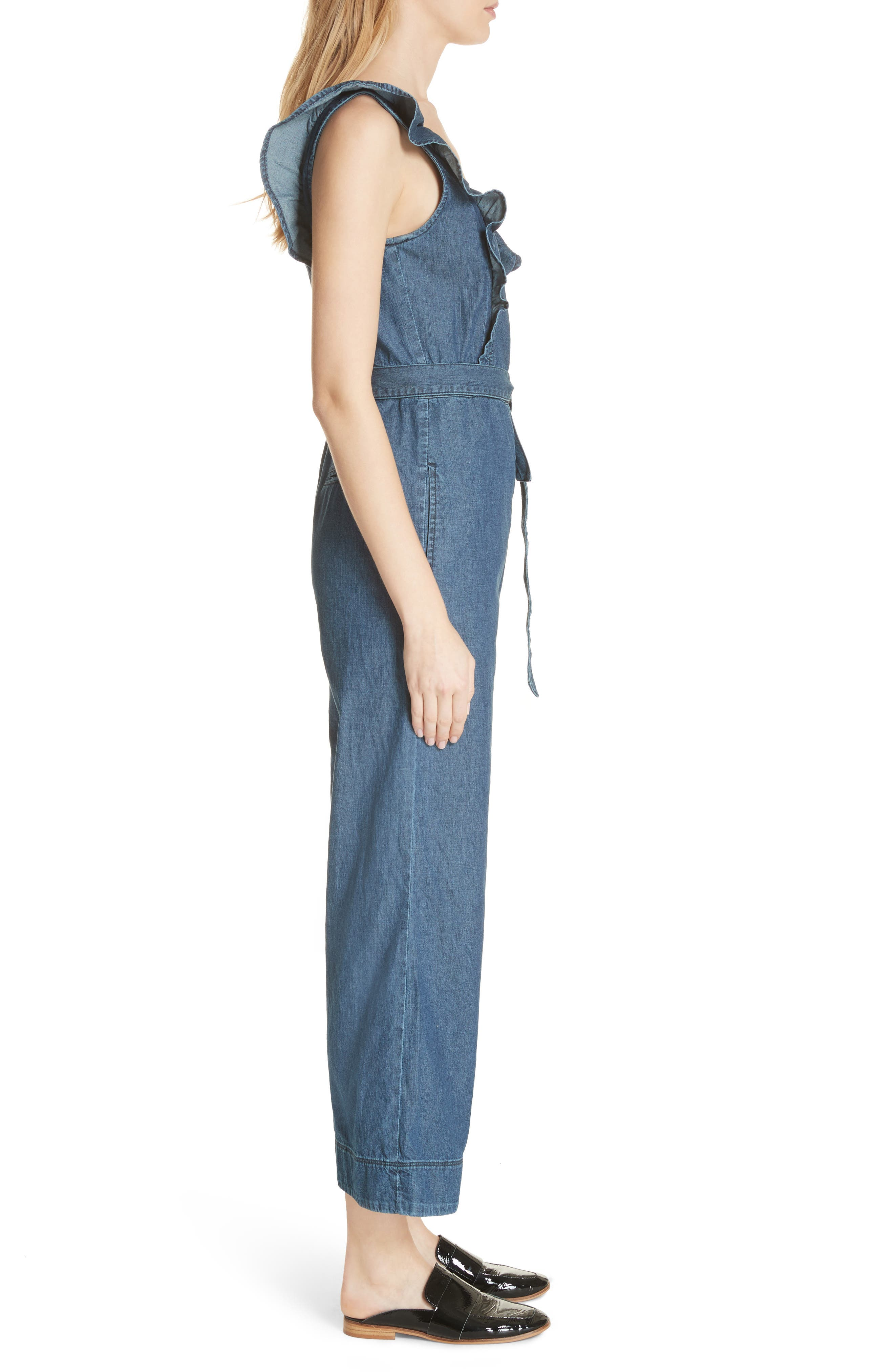 Sun Valley Jumpsuit,                             Alternate thumbnail 3, color,                             Dark Denim