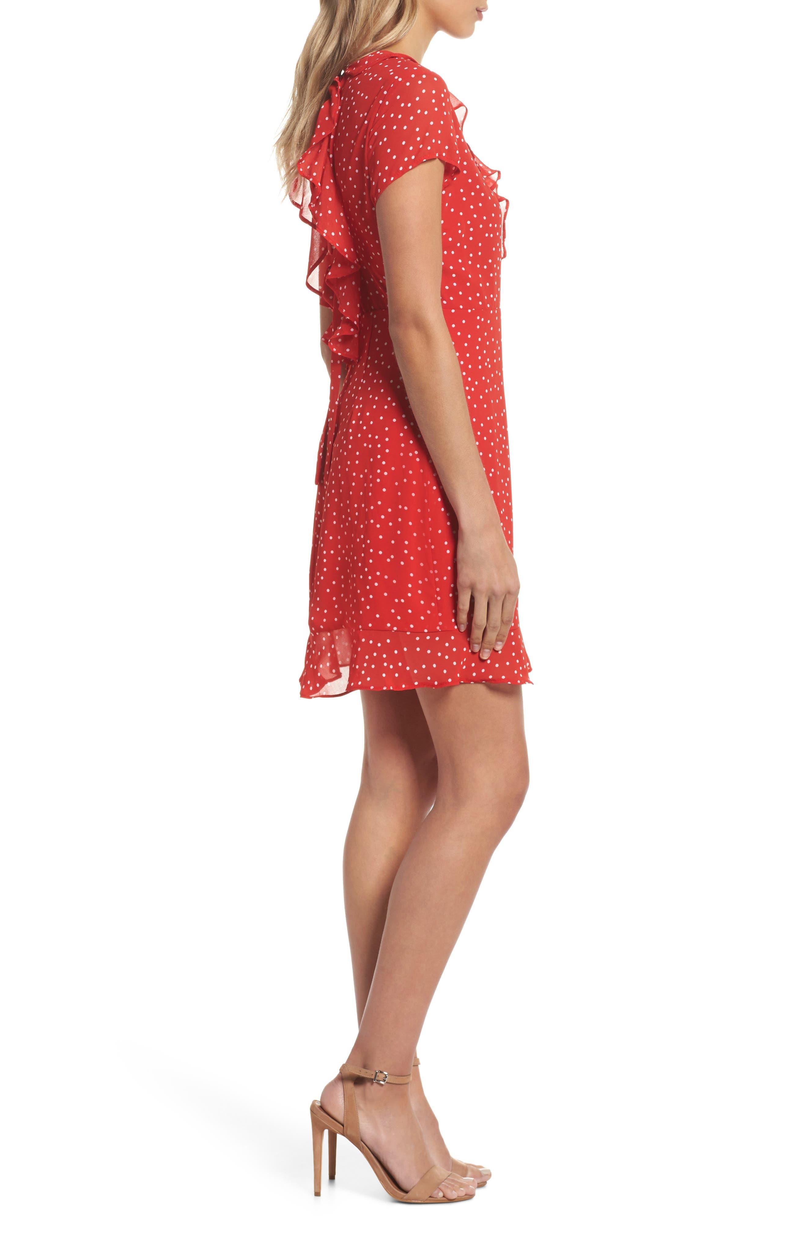 Alternate Image 4  - Bardot Polka Dot Ruffle Dress