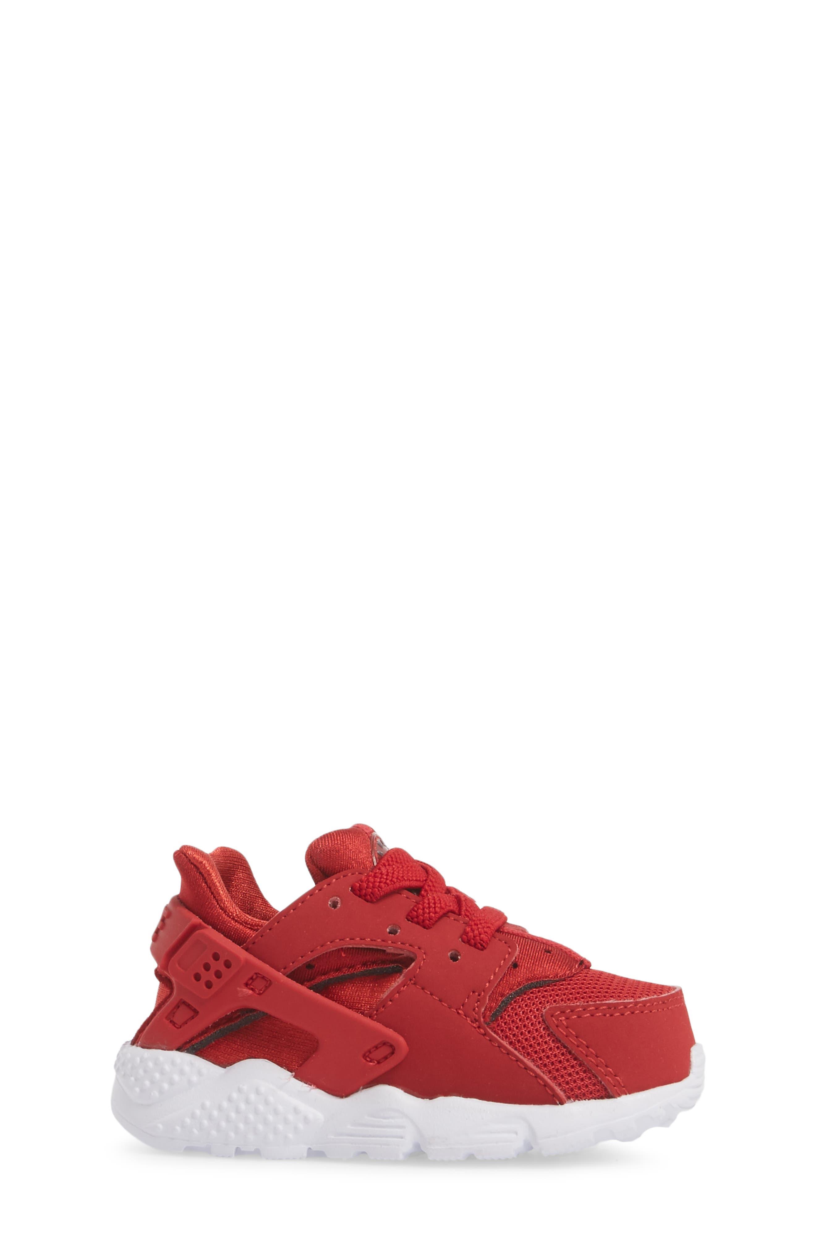 'Huarache Run' Sneaker,                             Alternate thumbnail 3, color,                             Gym Red/ Dark Grey/ White
