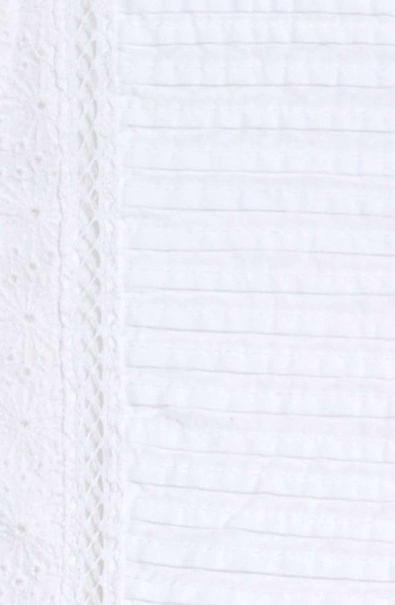 Lace Shift Dress,                             Alternate thumbnail 3, color,                             White