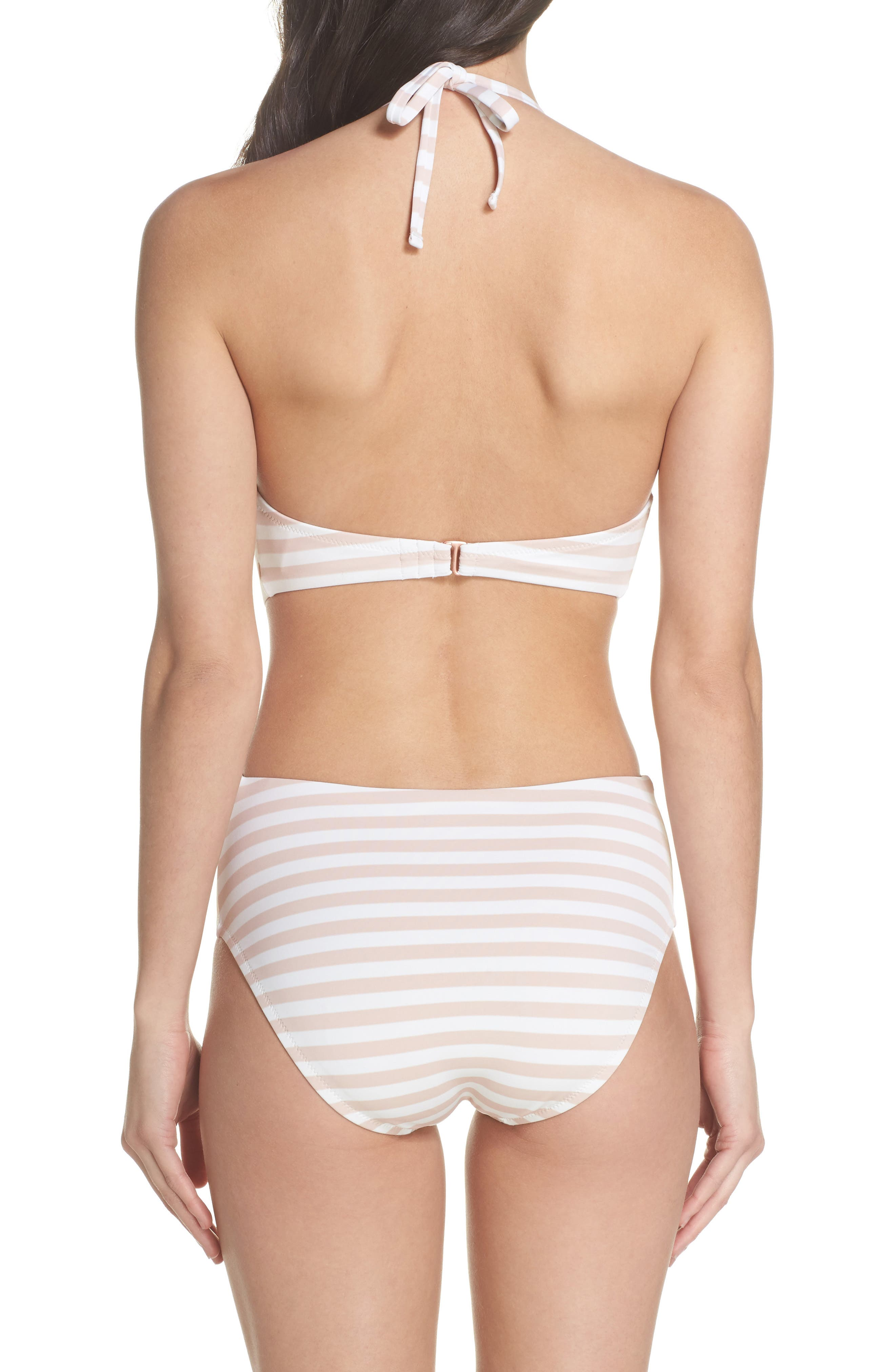 Ruffle One-Piece Swimsuit,                             Alternate thumbnail 2, color,                             Pink Dust Stripe