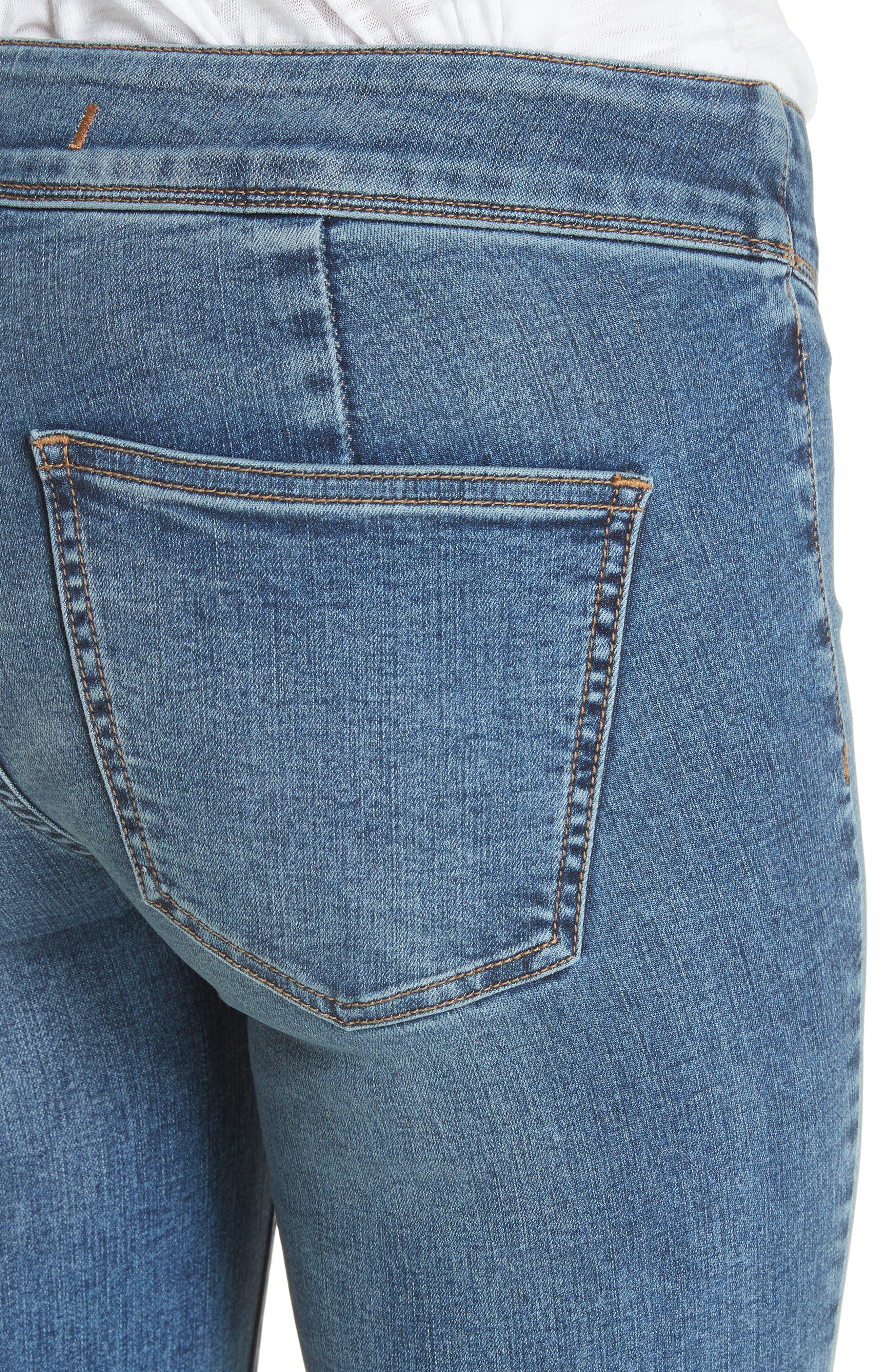 Flare Jeans,                             Alternate thumbnail 4, color,                             Blue