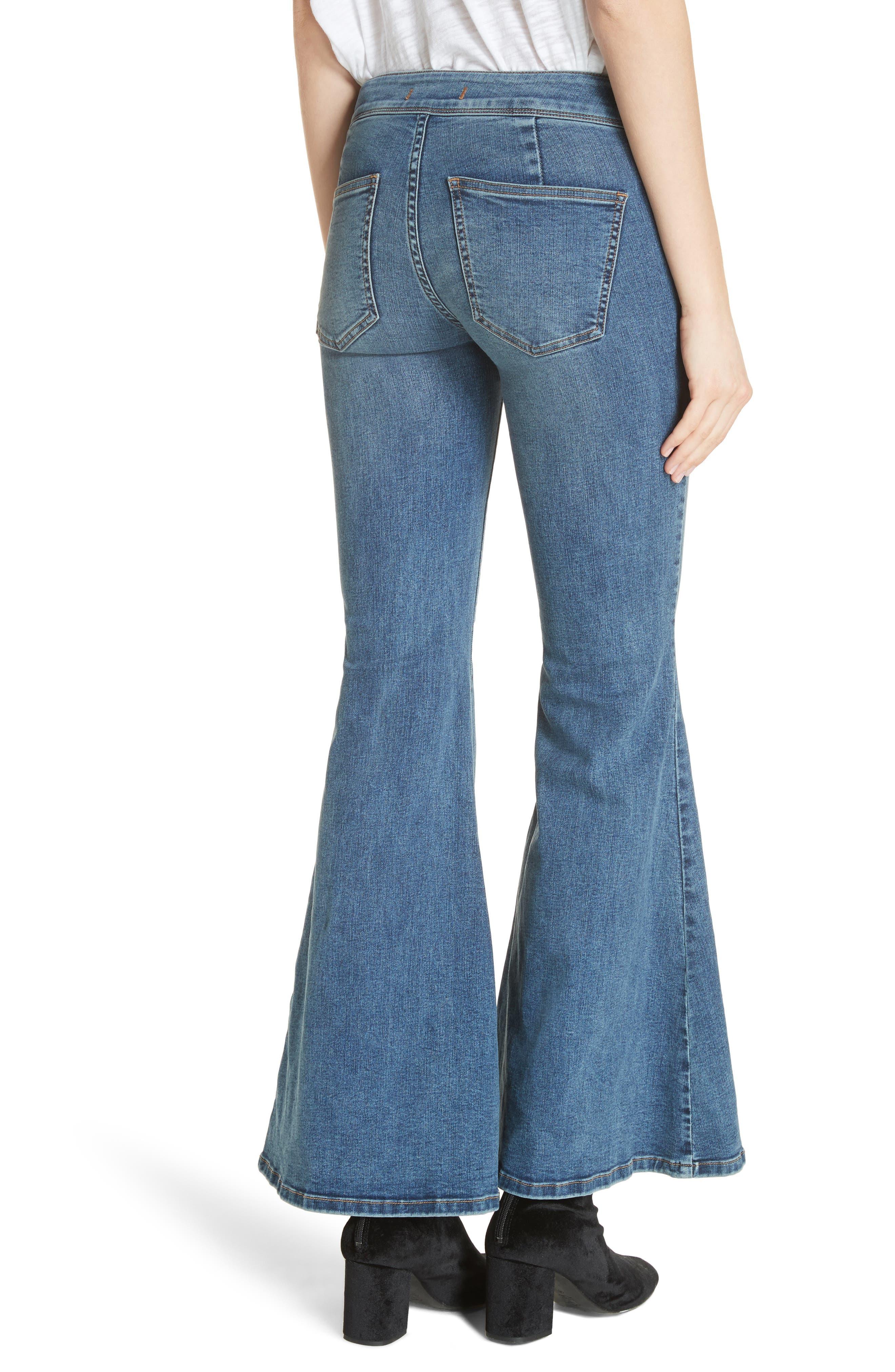 Flare Jeans,                             Alternate thumbnail 2, color,                             Blue