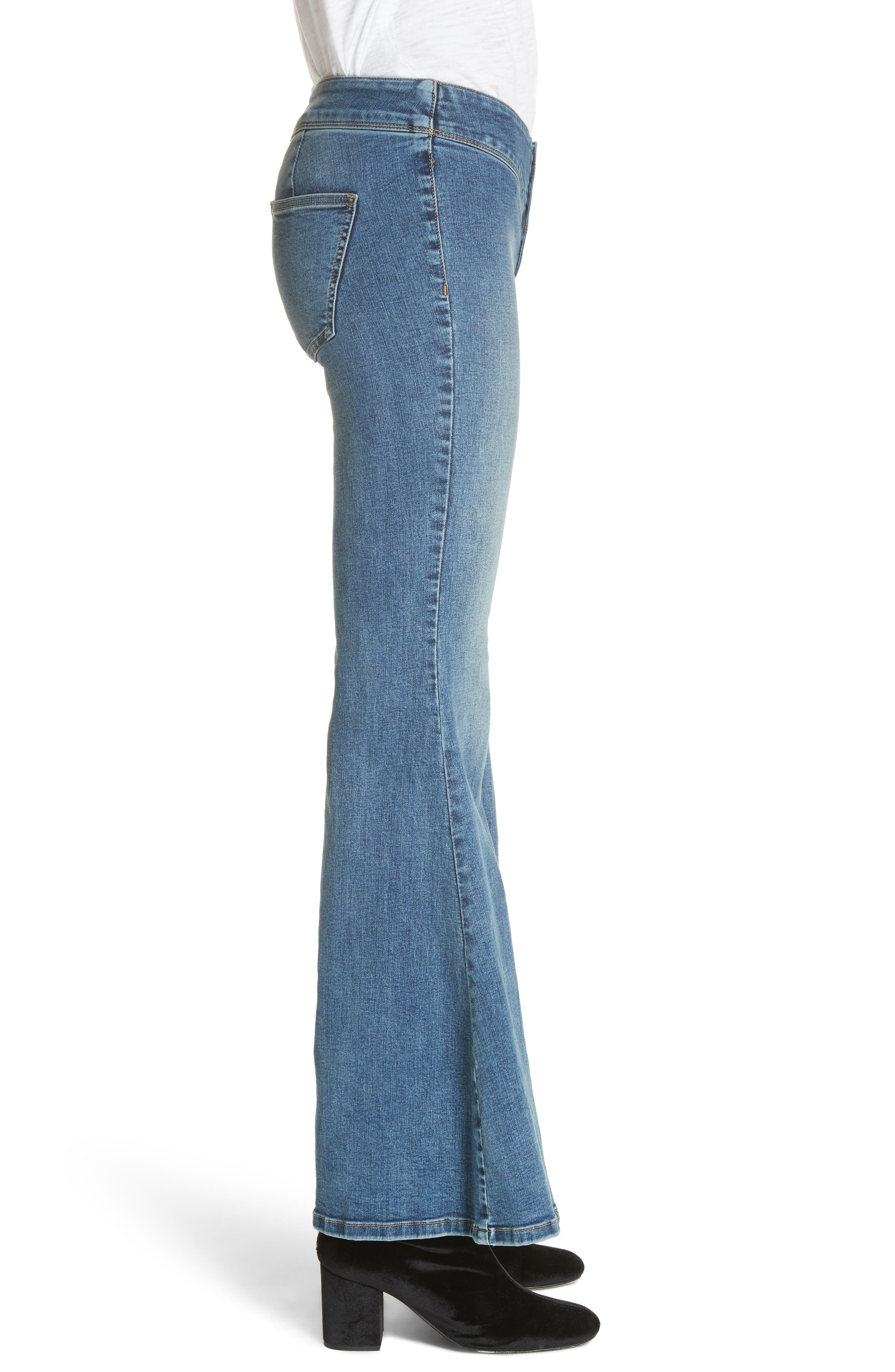 Flare Jeans,                             Alternate thumbnail 3, color,                             Blue