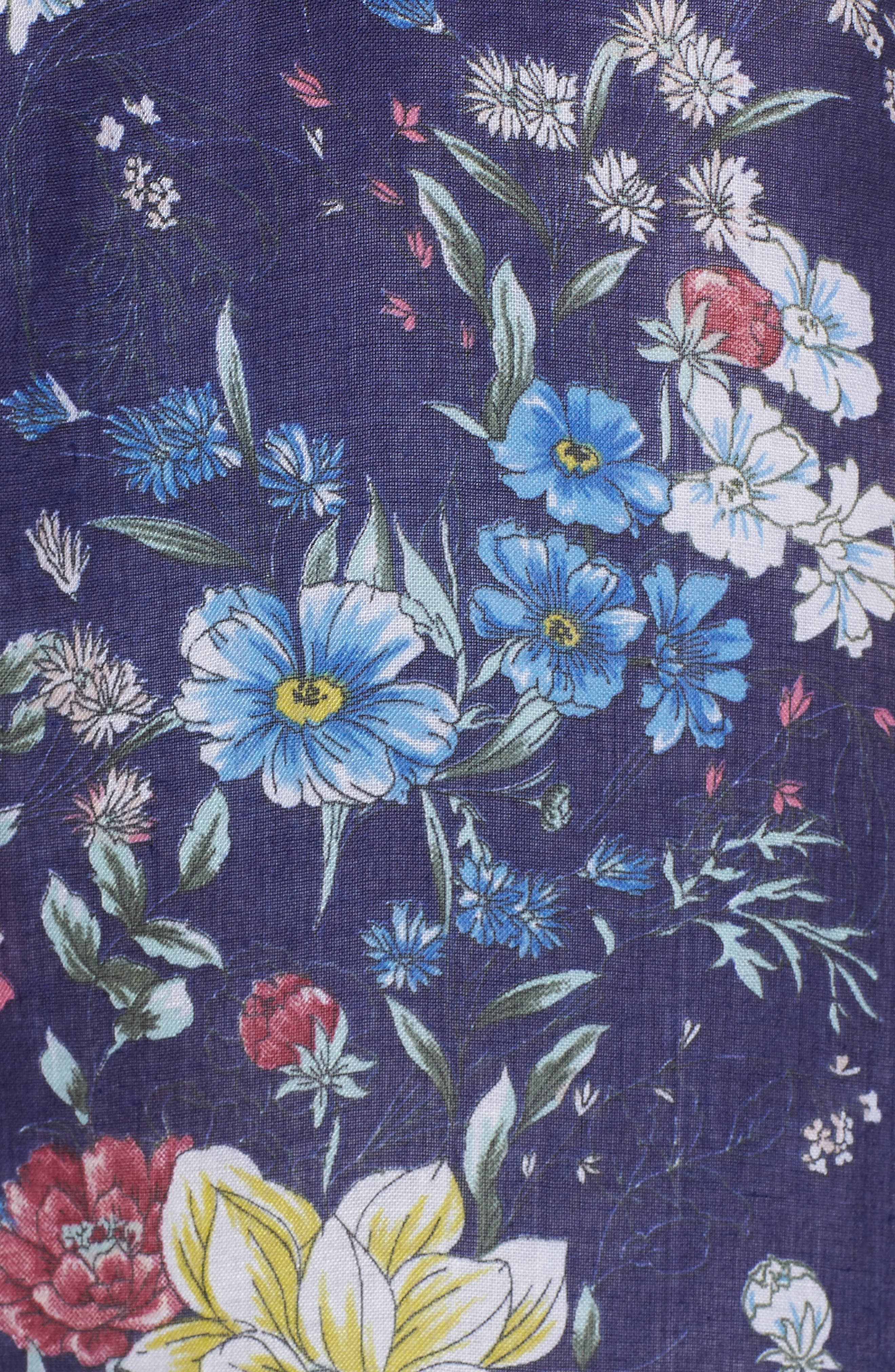 Floral Kimono Duster,                             Alternate thumbnail 5, color,                             Navy