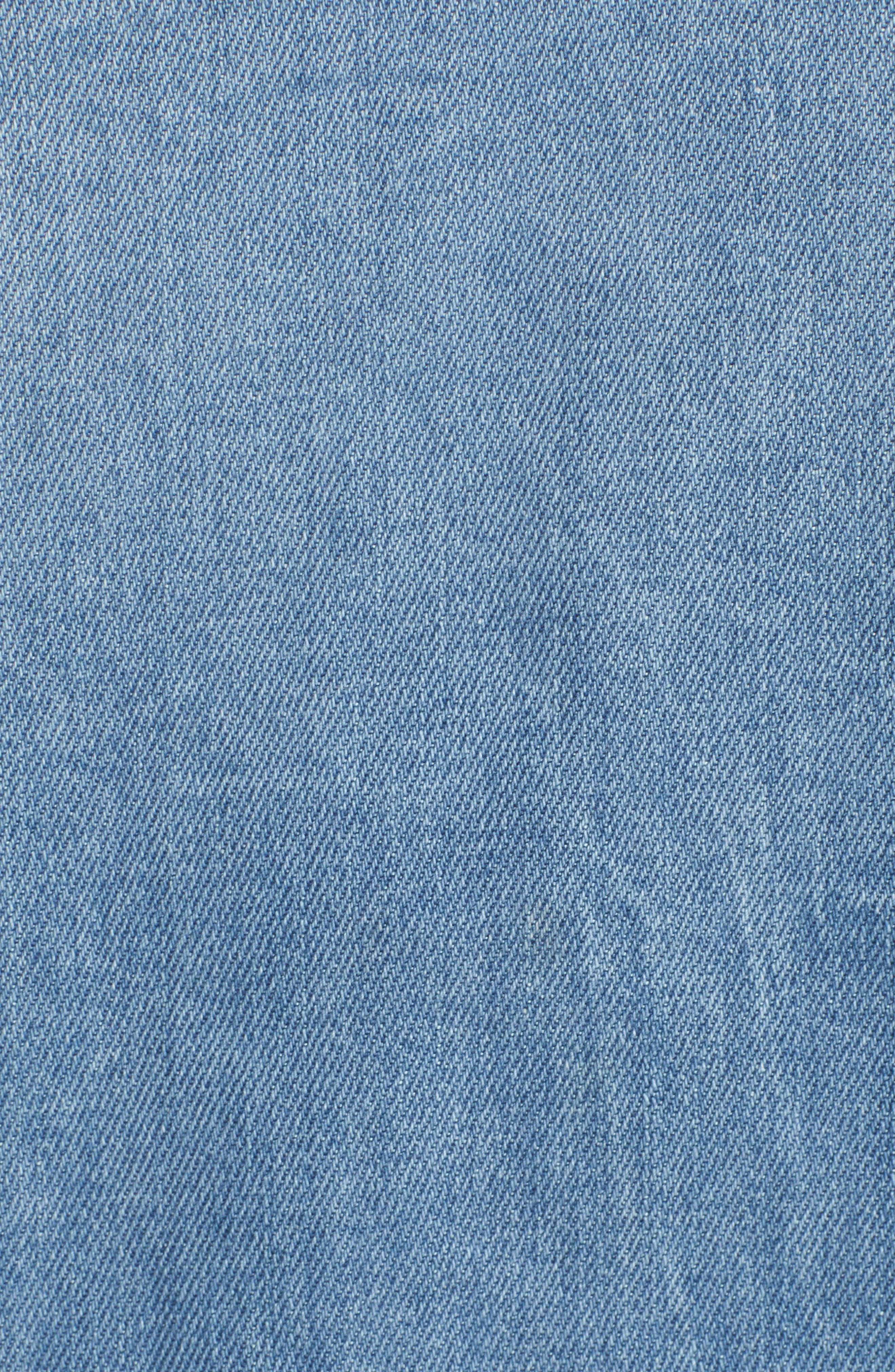 Kick Destroy Deconstructed Denim Jacket,                             Alternate thumbnail 6, color,                             Bleu