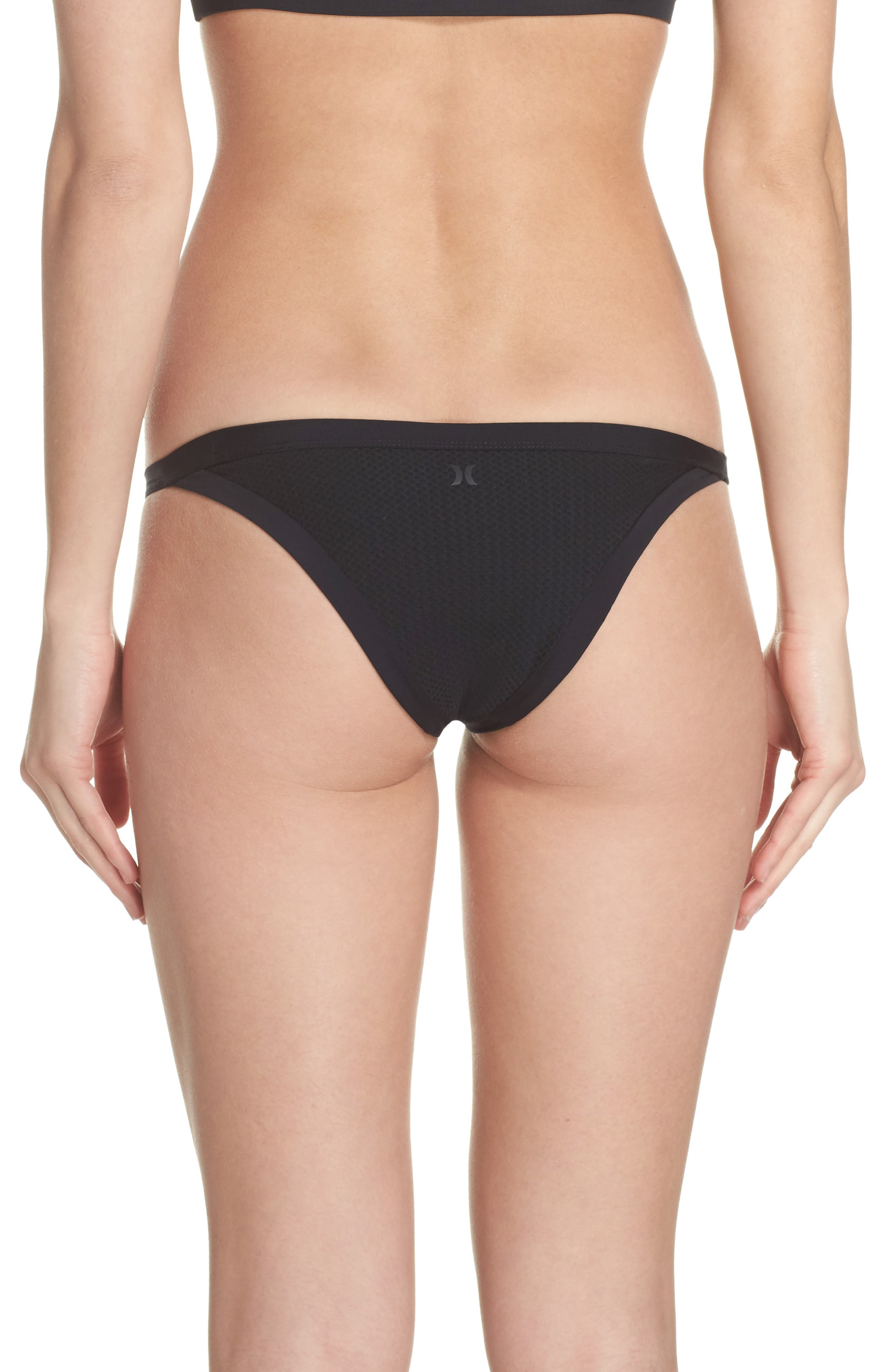 Alternate Image 2  - Hurley Quick Dry Mesh Bikini Bottoms