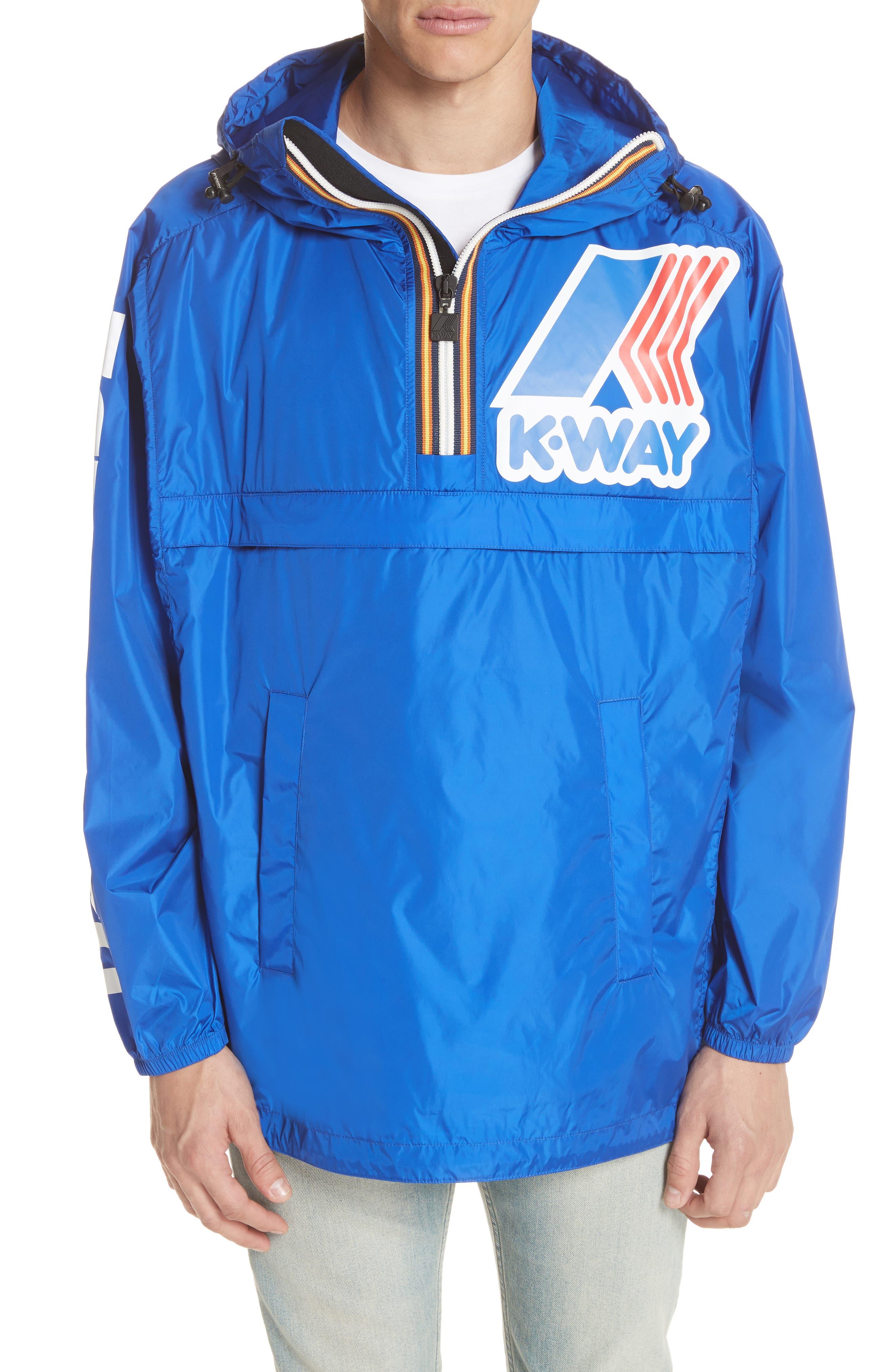 x K-Way Windbreaker,                         Main,                         color, Light/Blue