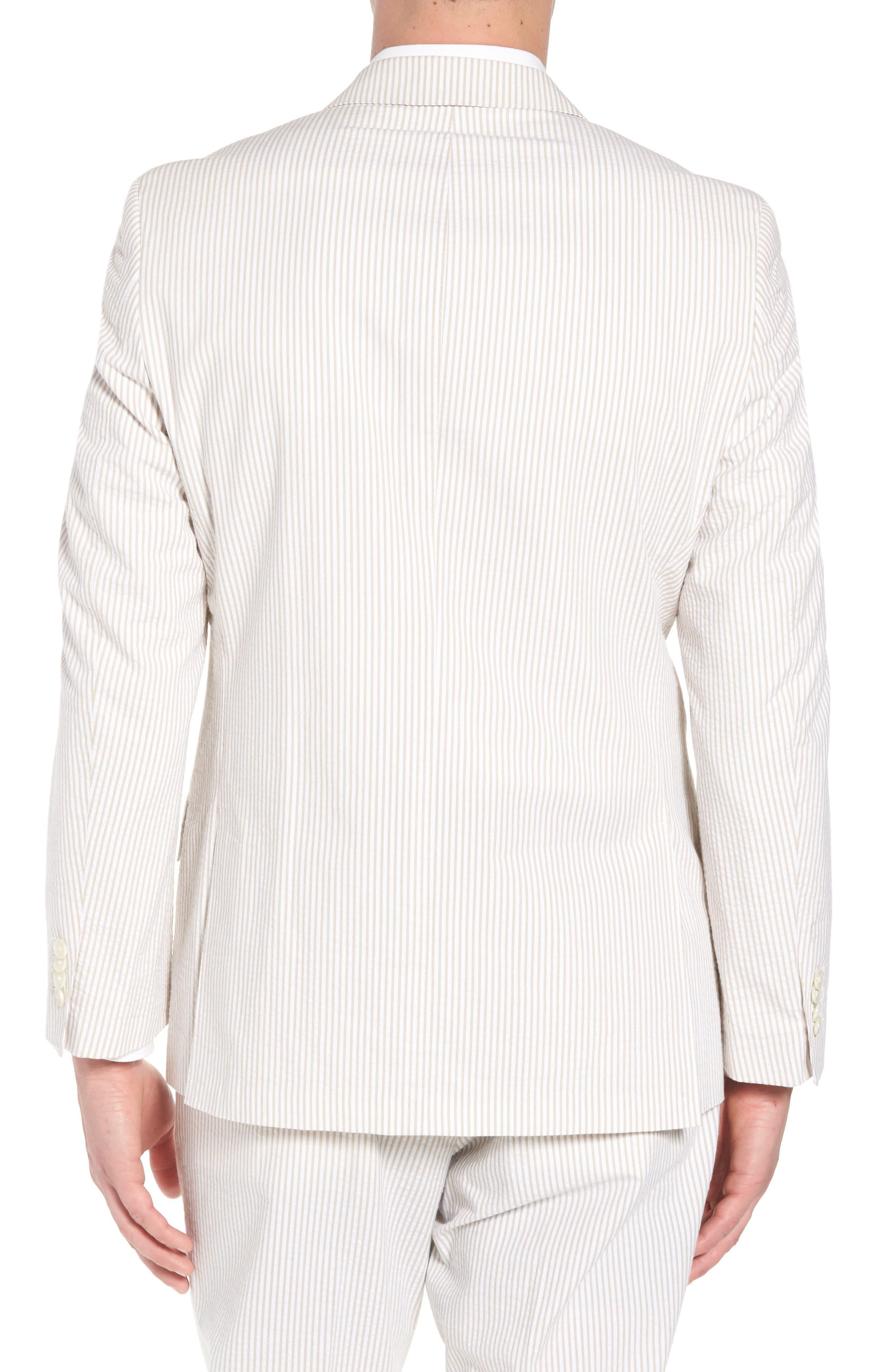 Jack AIM Classic Fit Seersucker Sport Coat,                             Alternate thumbnail 2, color,                             Tan And White