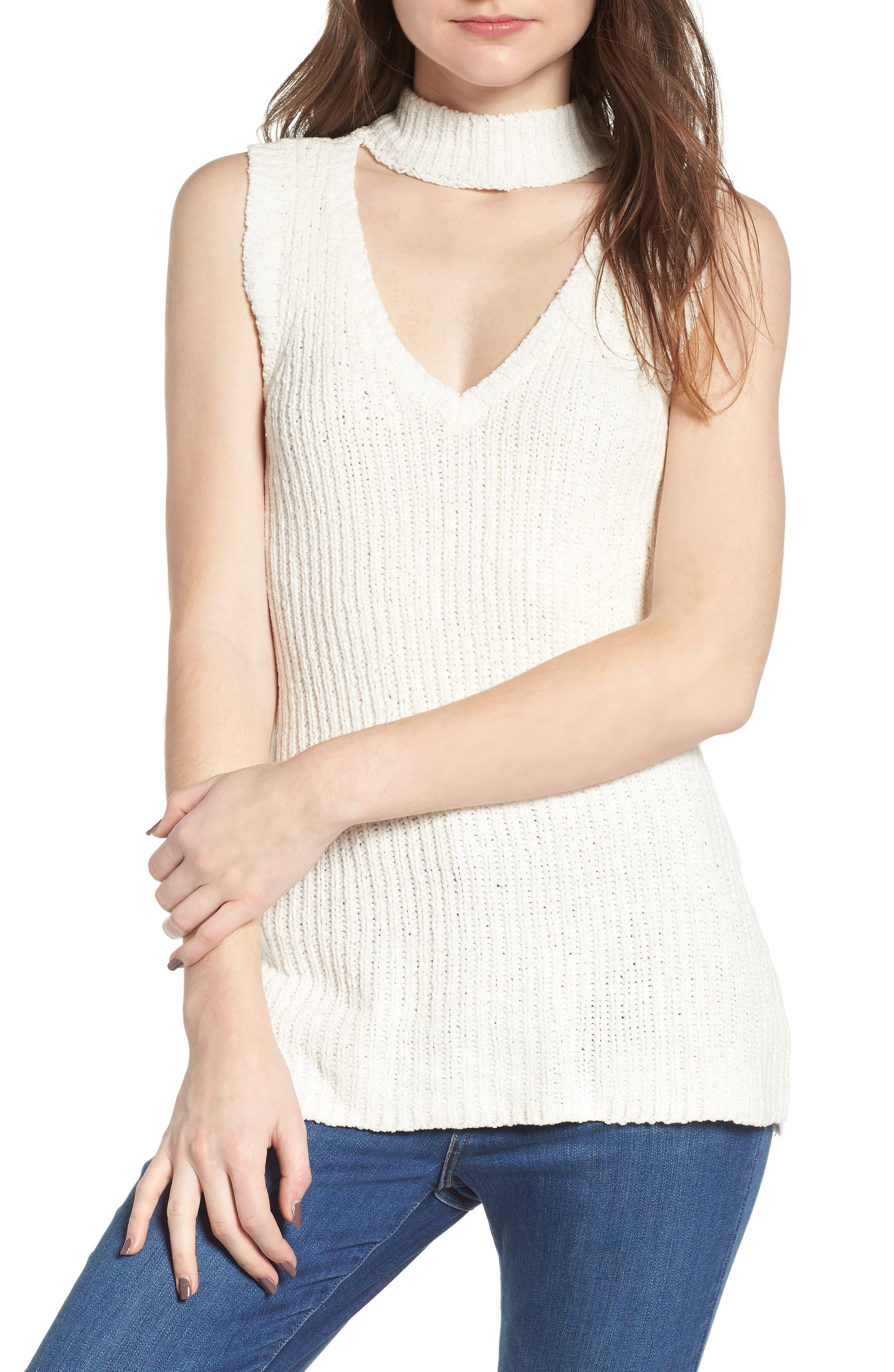 Camdon Sleeveless Sweater,                         Main,                         color, Ivory