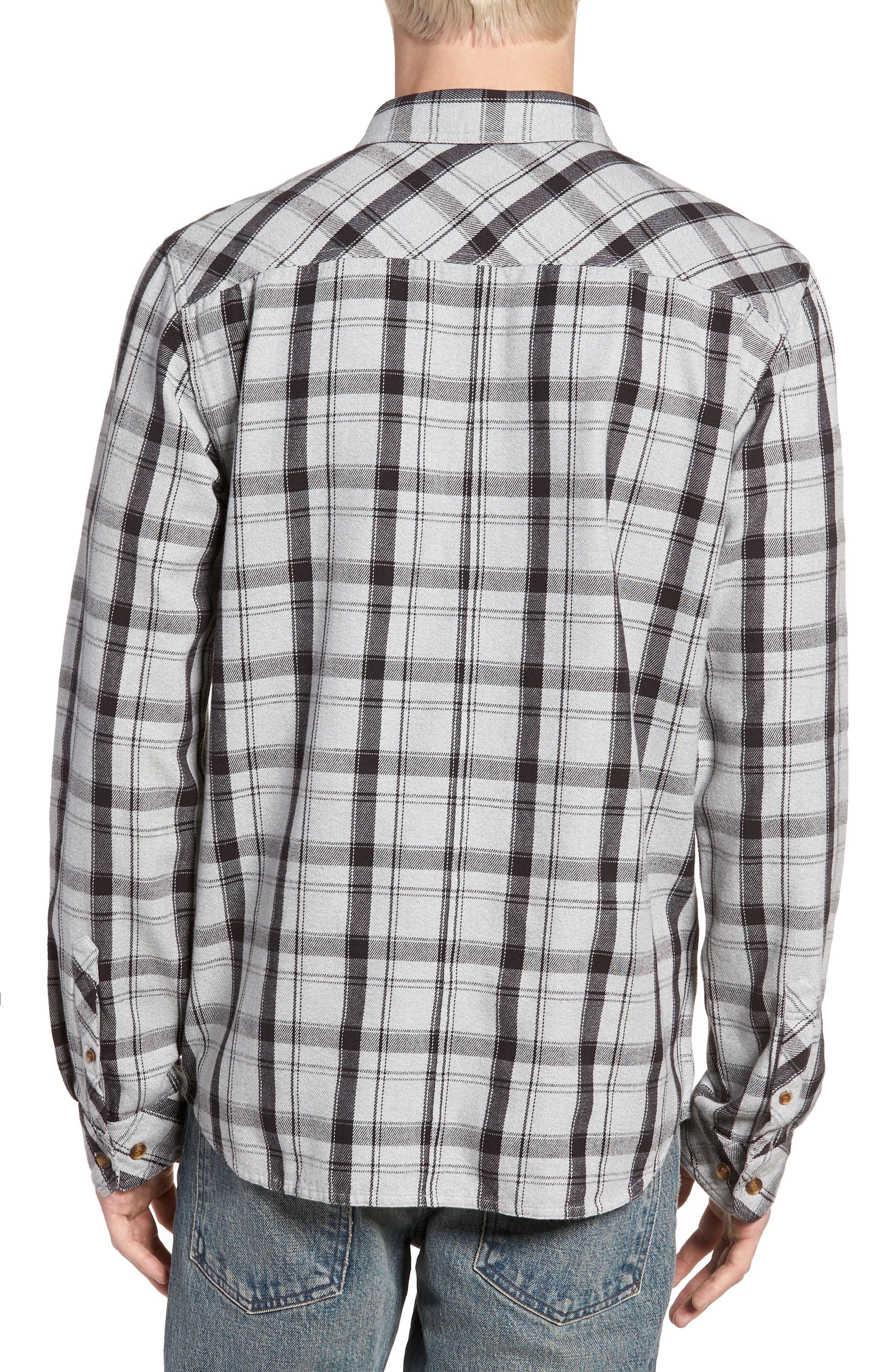 Carpenter Flannel Shirt,                             Alternate thumbnail 3, color,                             Fog