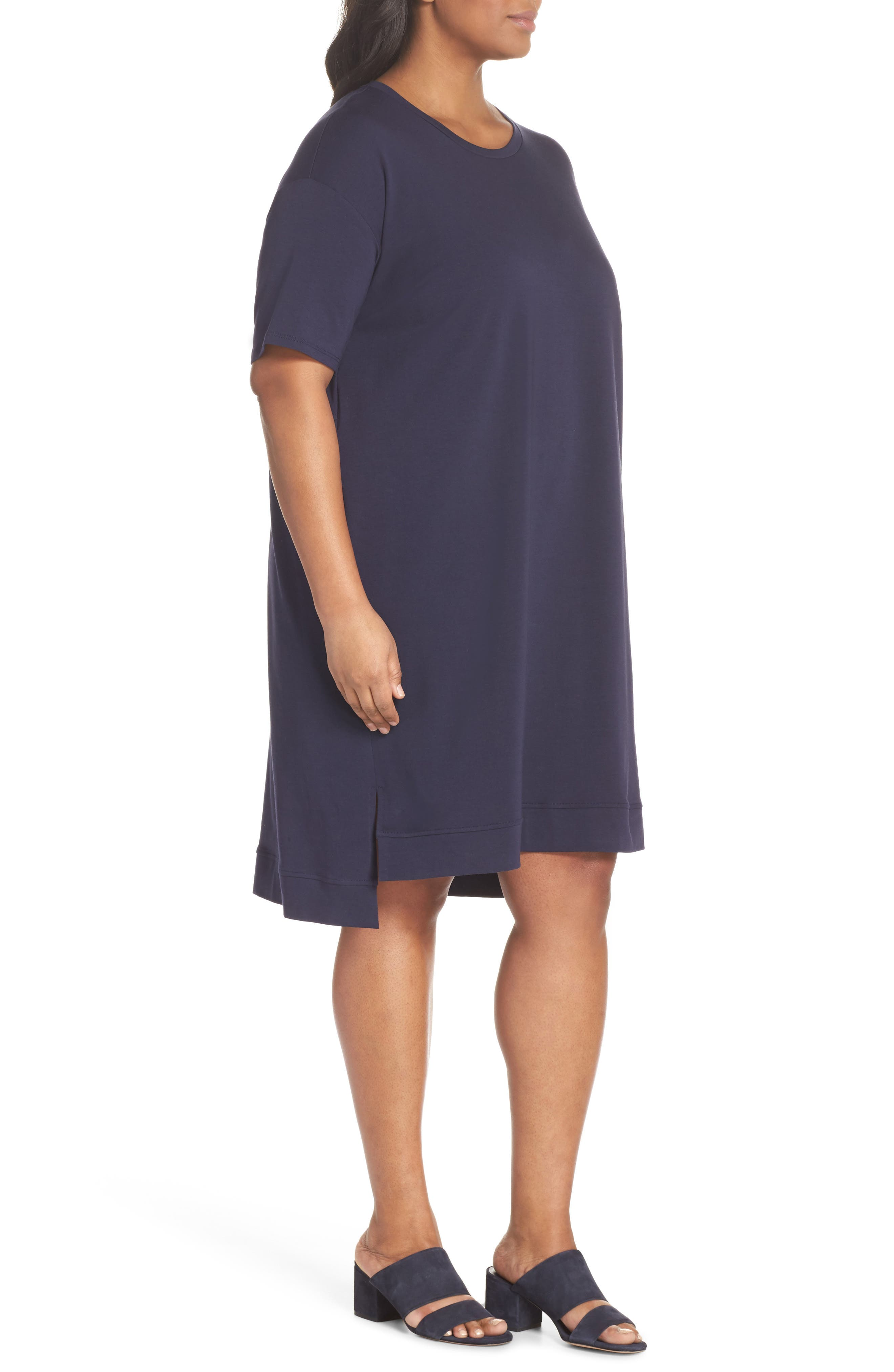Knit Jersey Dress,                             Alternate thumbnail 3, color,                             Midnight