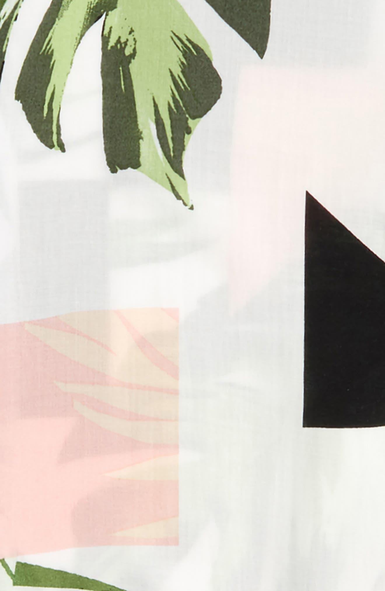 Print Woven Shirt,                             Alternate thumbnail 2, color,                             White Geo Palm