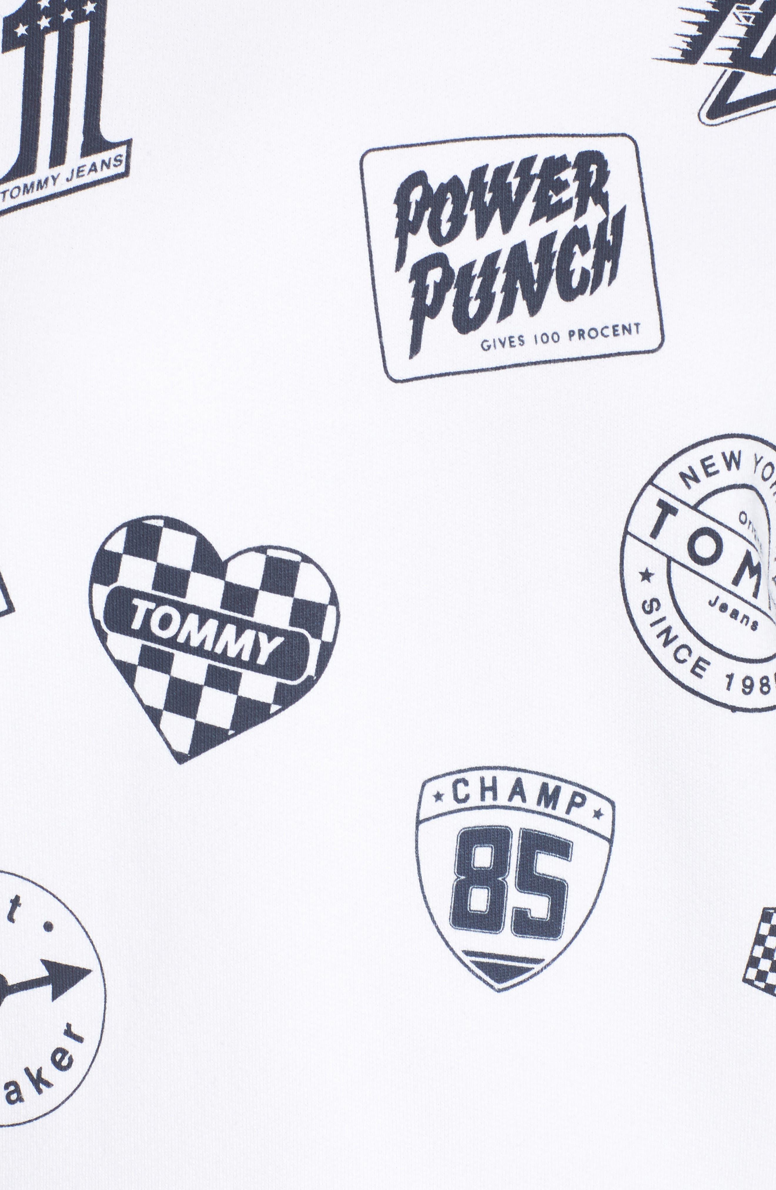 Race Uniform Badge Sweatshirt,                             Alternate thumbnail 6, color,                             Bright White