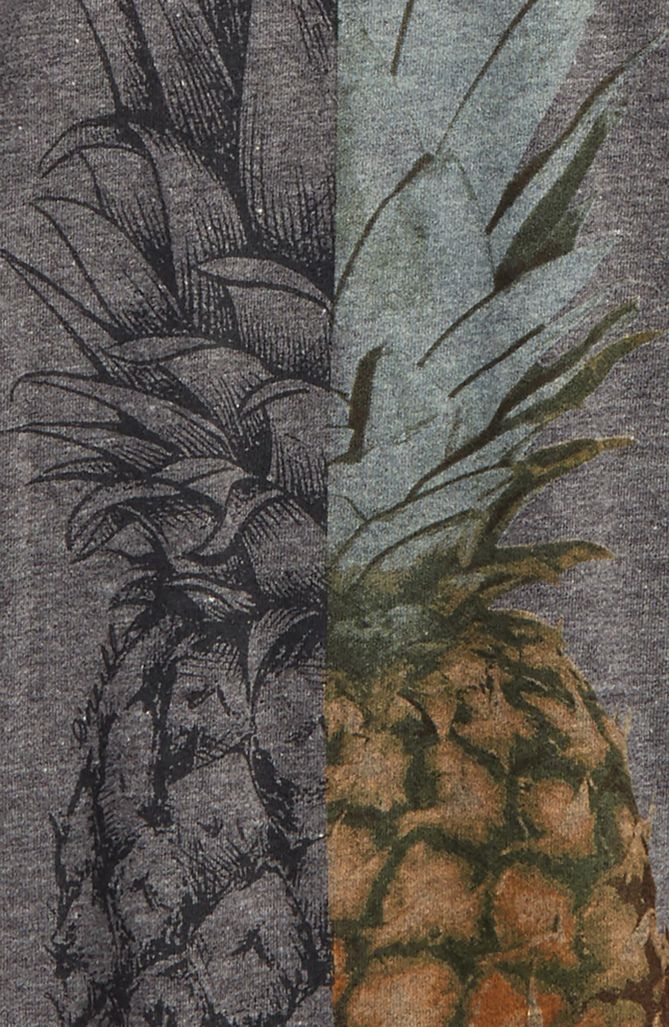 Pineapple Slice Graphic Tee,                             Alternate thumbnail 2, color,                             Heather Grey