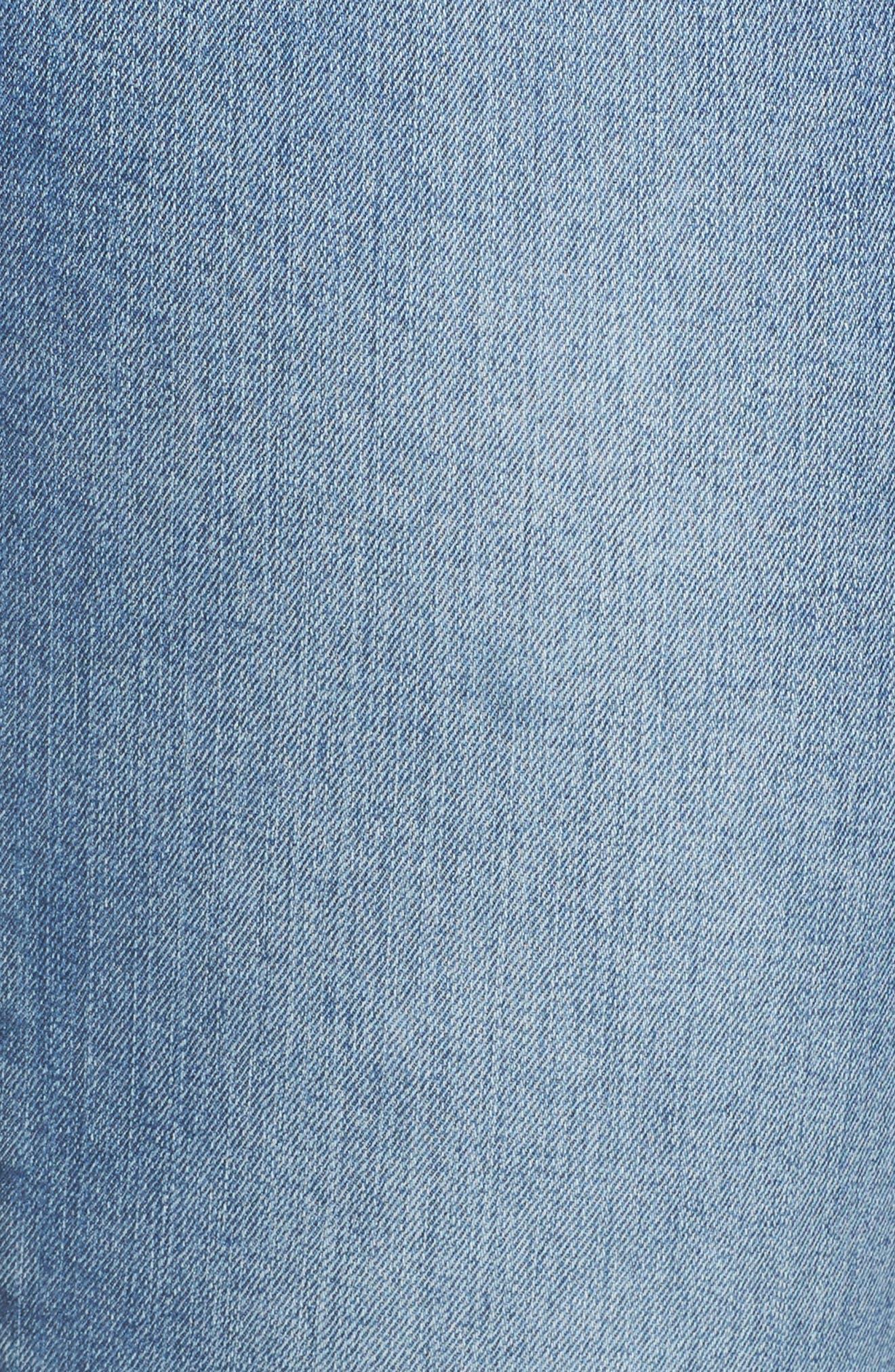 Ab-solution Stretch Ankle Skimmer Jeans,                             Alternate thumbnail 6, color,                             Light Blue