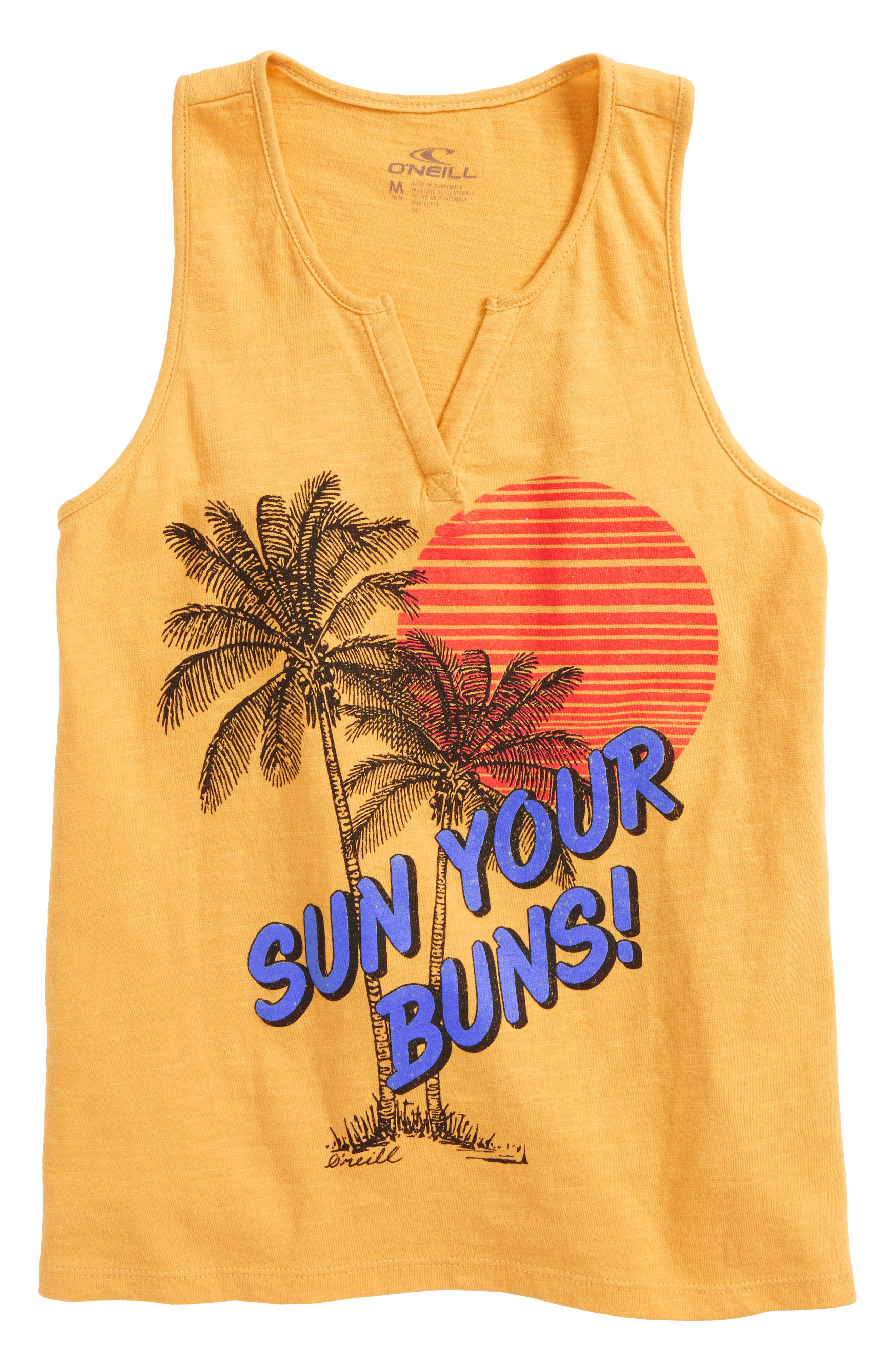 Sun Block Graphic Tank,                         Main,                         color, Goldie