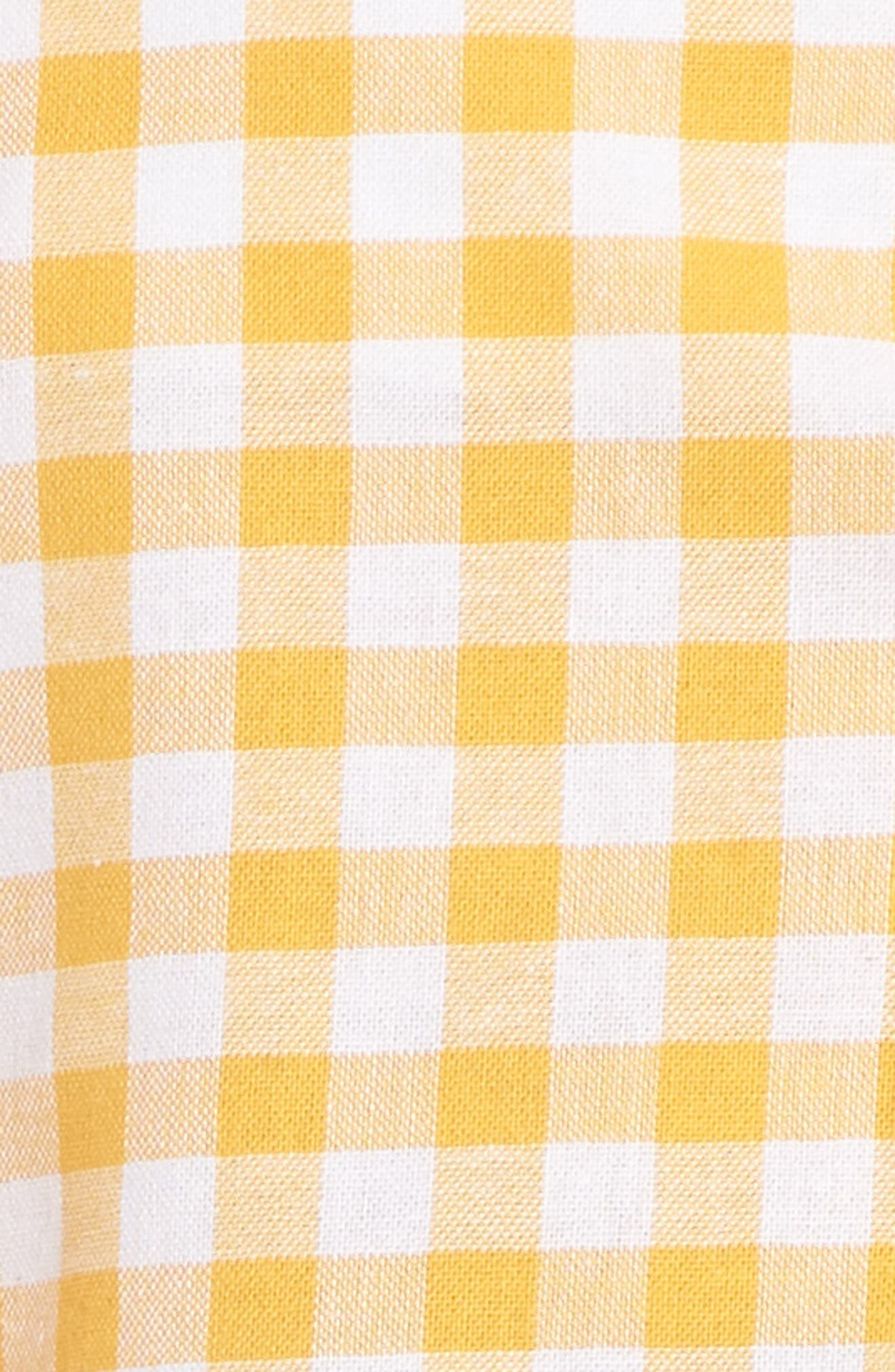 Idyllic Gingham Ruffle Shorts,                             Alternate thumbnail 6, color,                             Buttercup