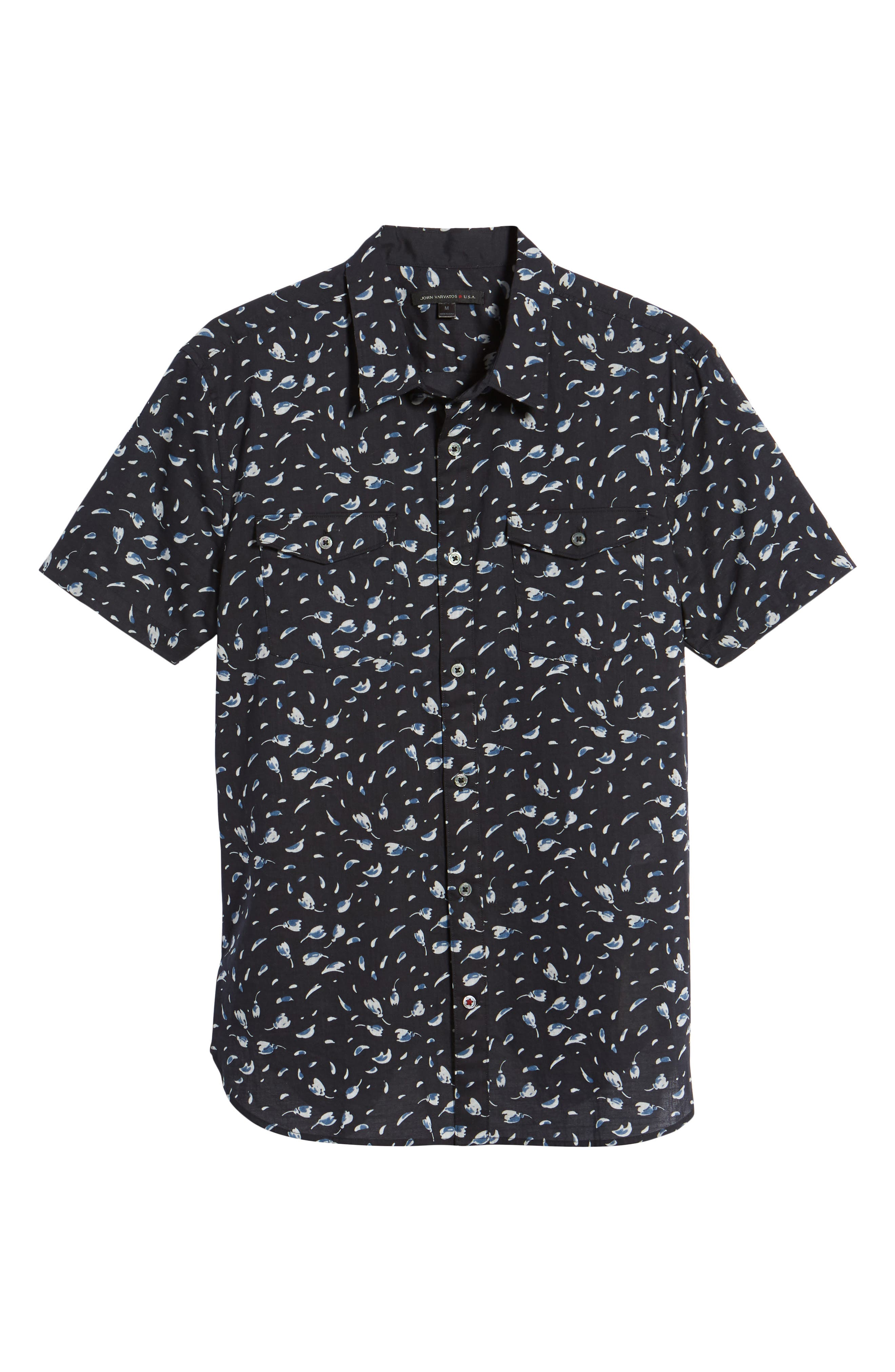 Extra Slim Fit Print Sport Shirt,                             Alternate thumbnail 6, color,                             Mercury Grey