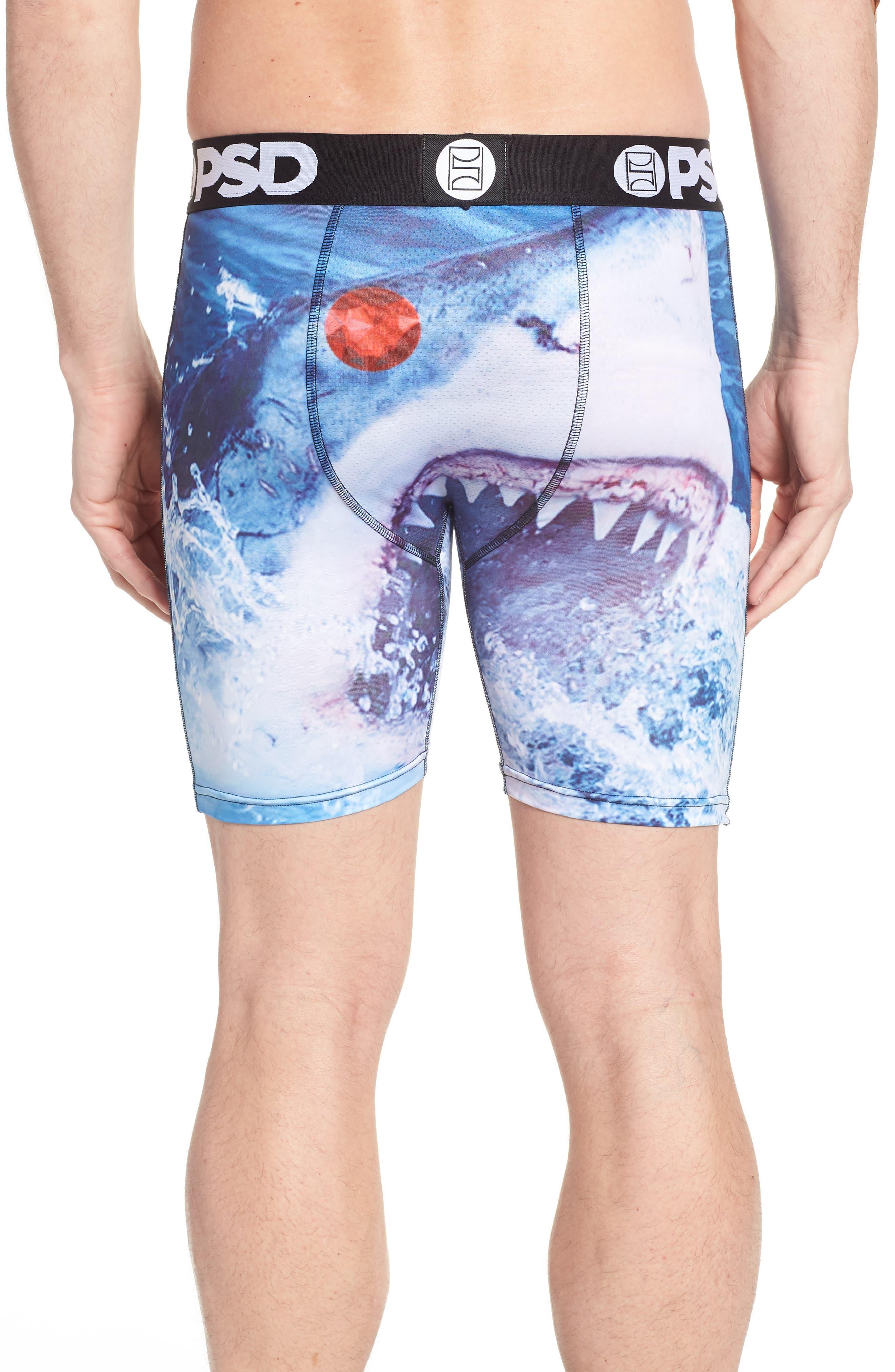 Shark Boxer Briefs,                             Alternate thumbnail 2, color,                             Blue