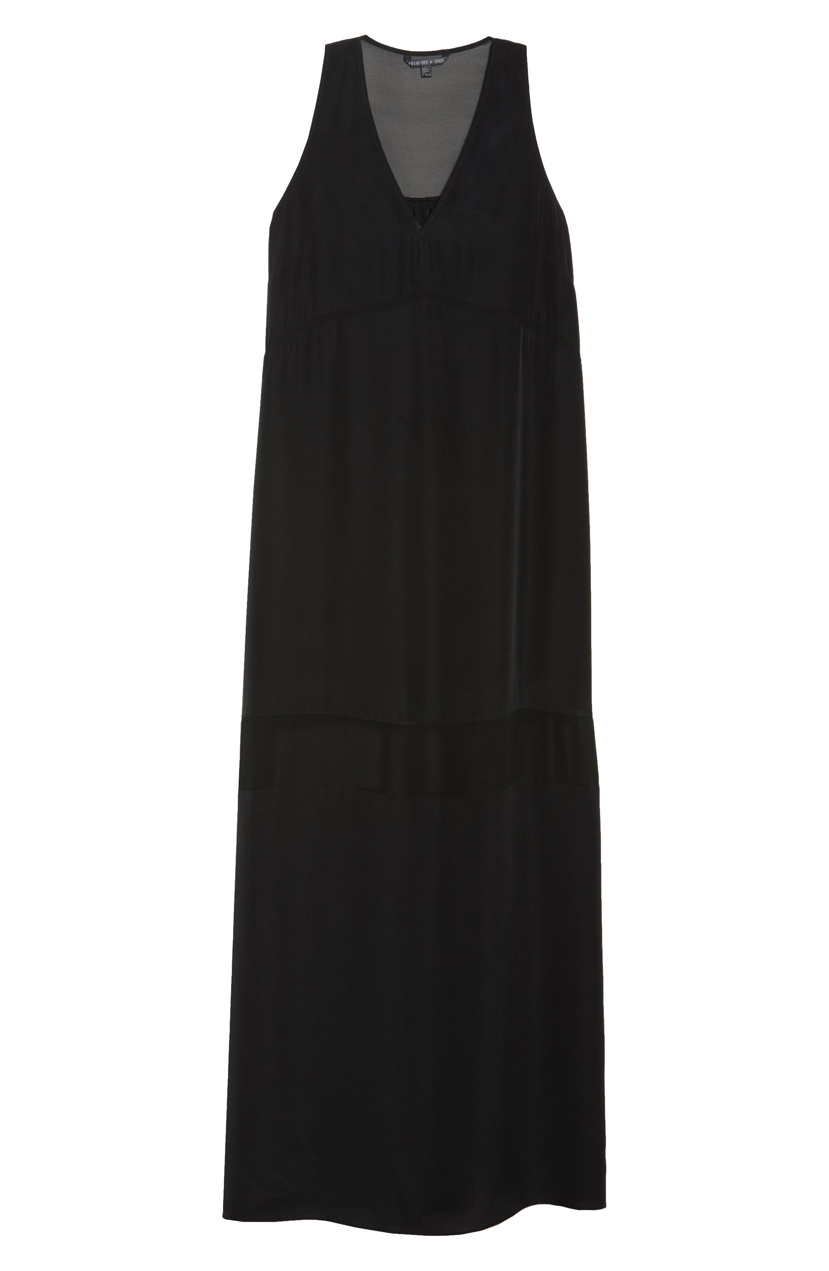 Hampton Maxi Dress,                             Alternate thumbnail 7, color,                             Black