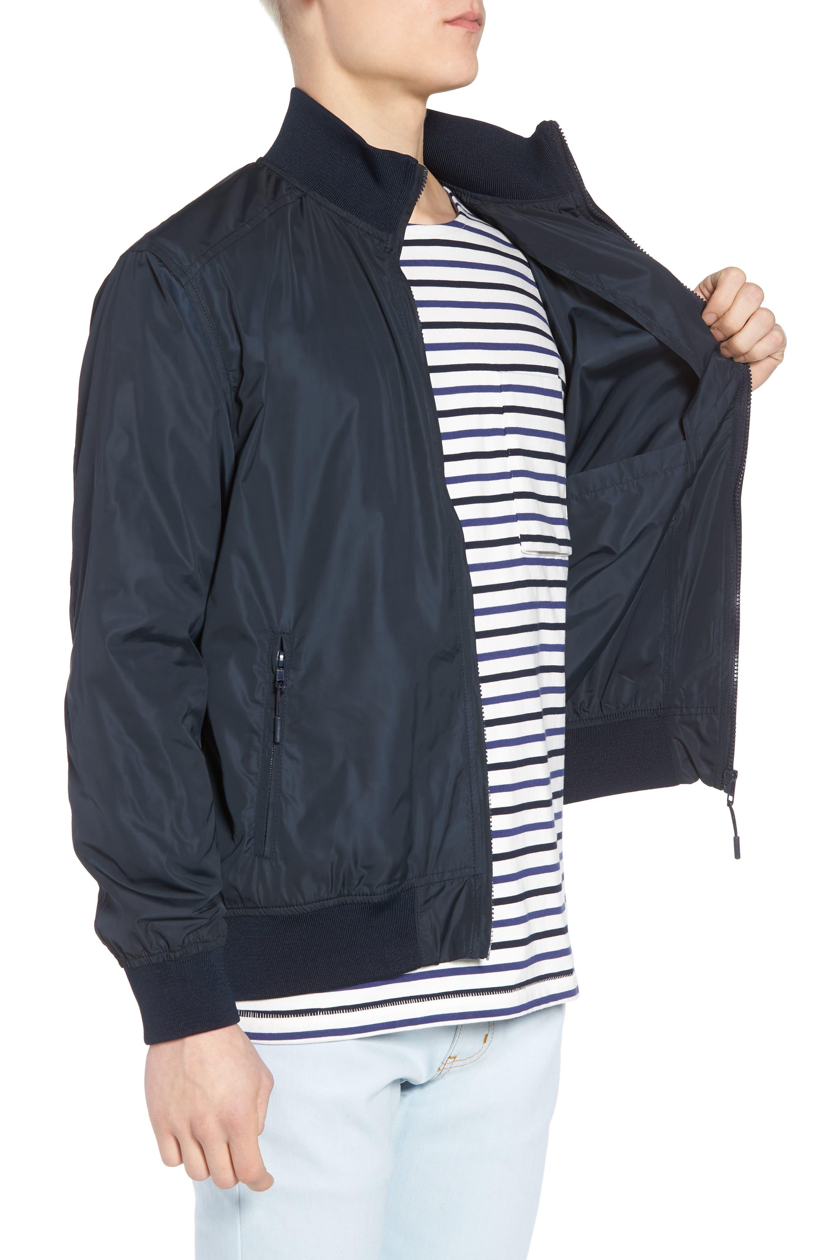 Classic Fit Track Jacket,                             Alternate thumbnail 3, color,                             Dark Blue