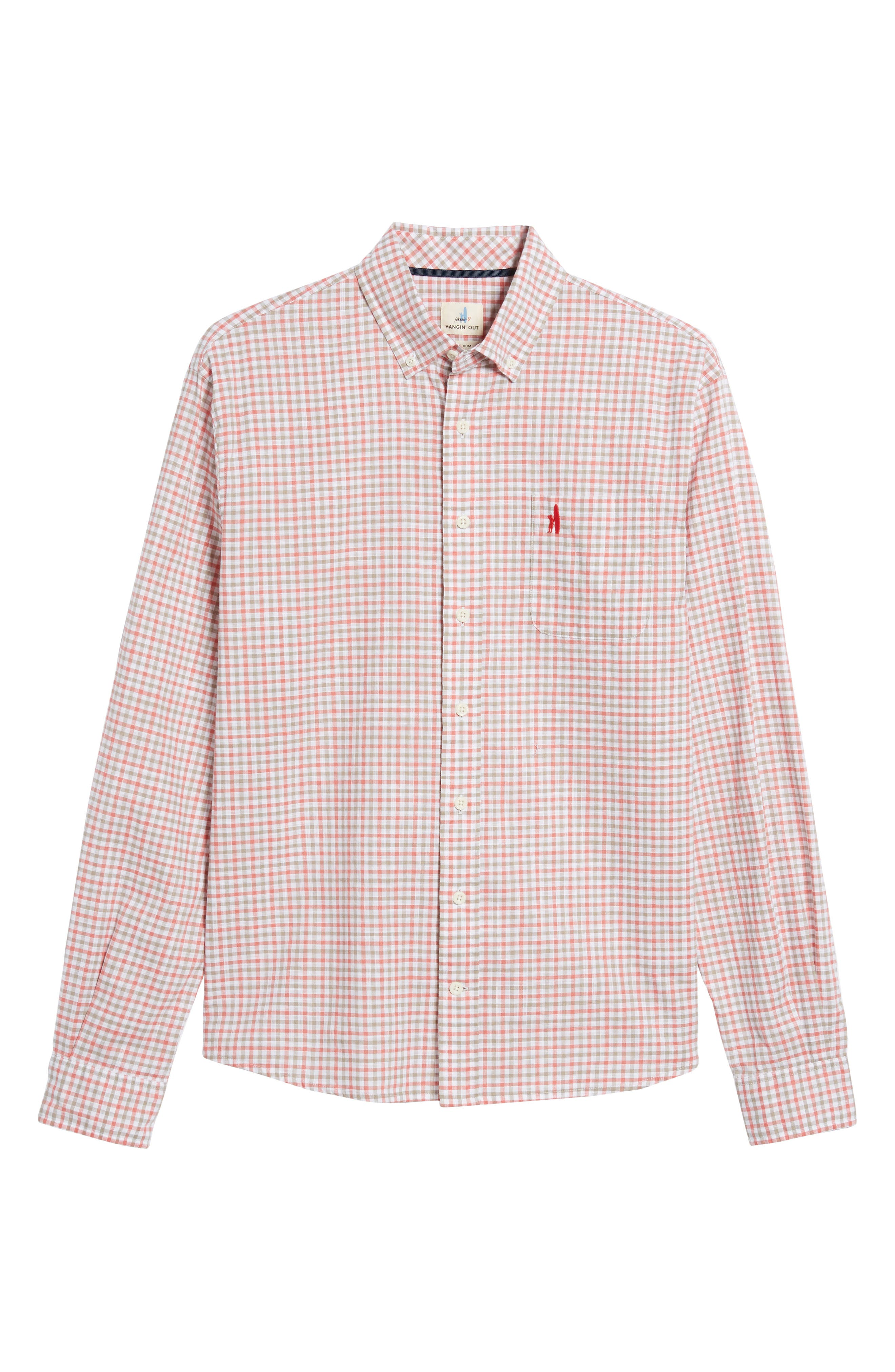 Driscoll Regular Fit Sport Shirt,                             Alternate thumbnail 6, color,                             Malibu Red